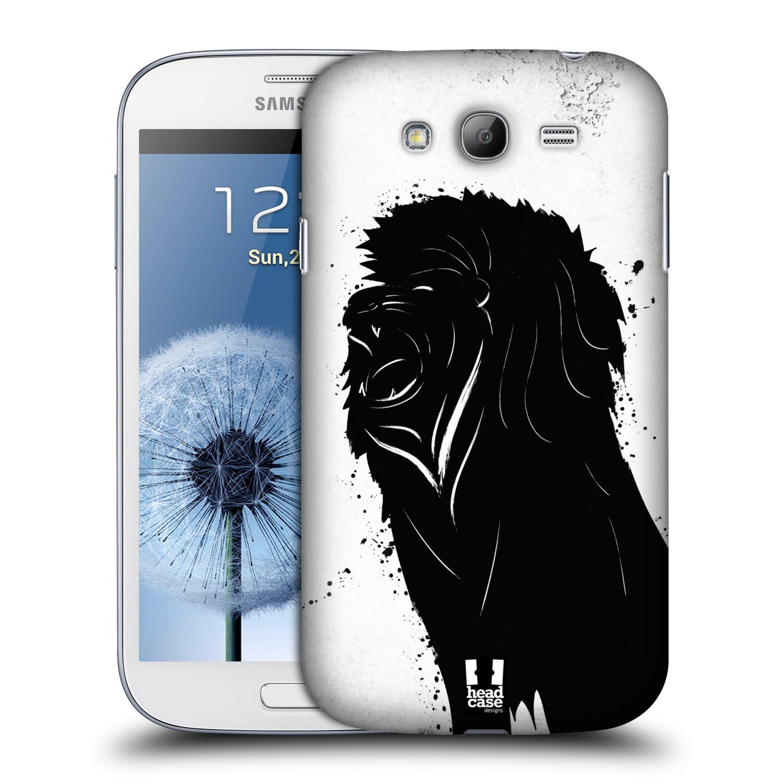 HEAD CASE plastový obal na mobil SAMSUNG GALAXY Grand i9080 vzor Kresba tuš zvíře lev