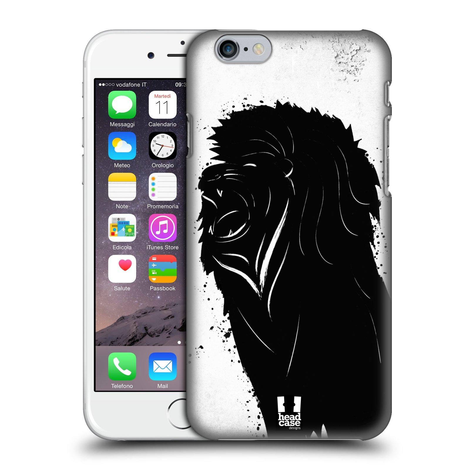 Plastové pouzdro pro mobil Apple Iphone 6/6S vzor Kresba tuš zvíře lev