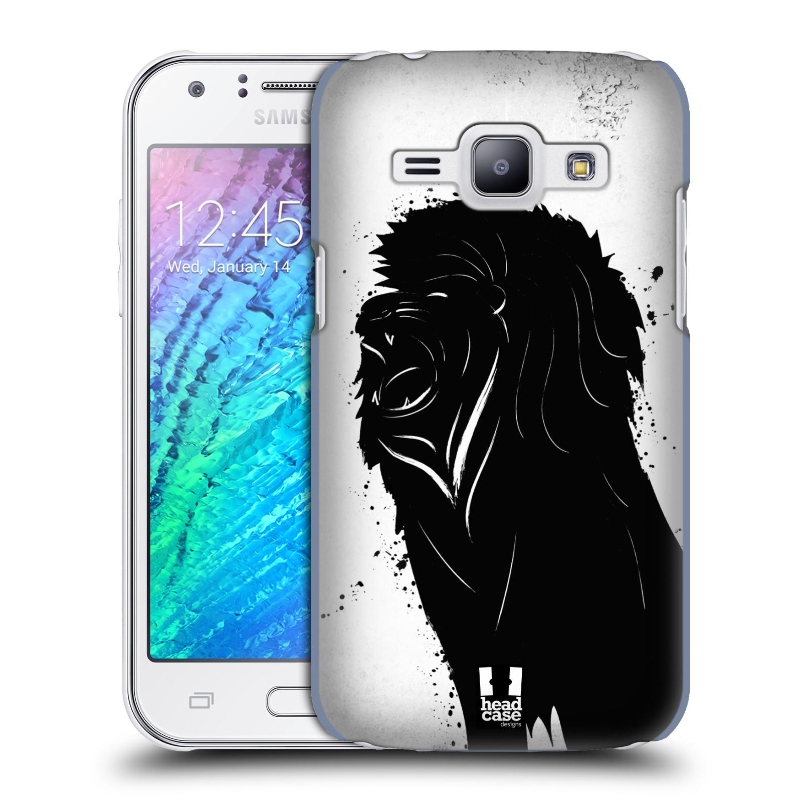 HEAD CASE plastový obal na mobil SAMSUNG Galaxy J1, J100 vzor Kresba tuš zvíře lev
