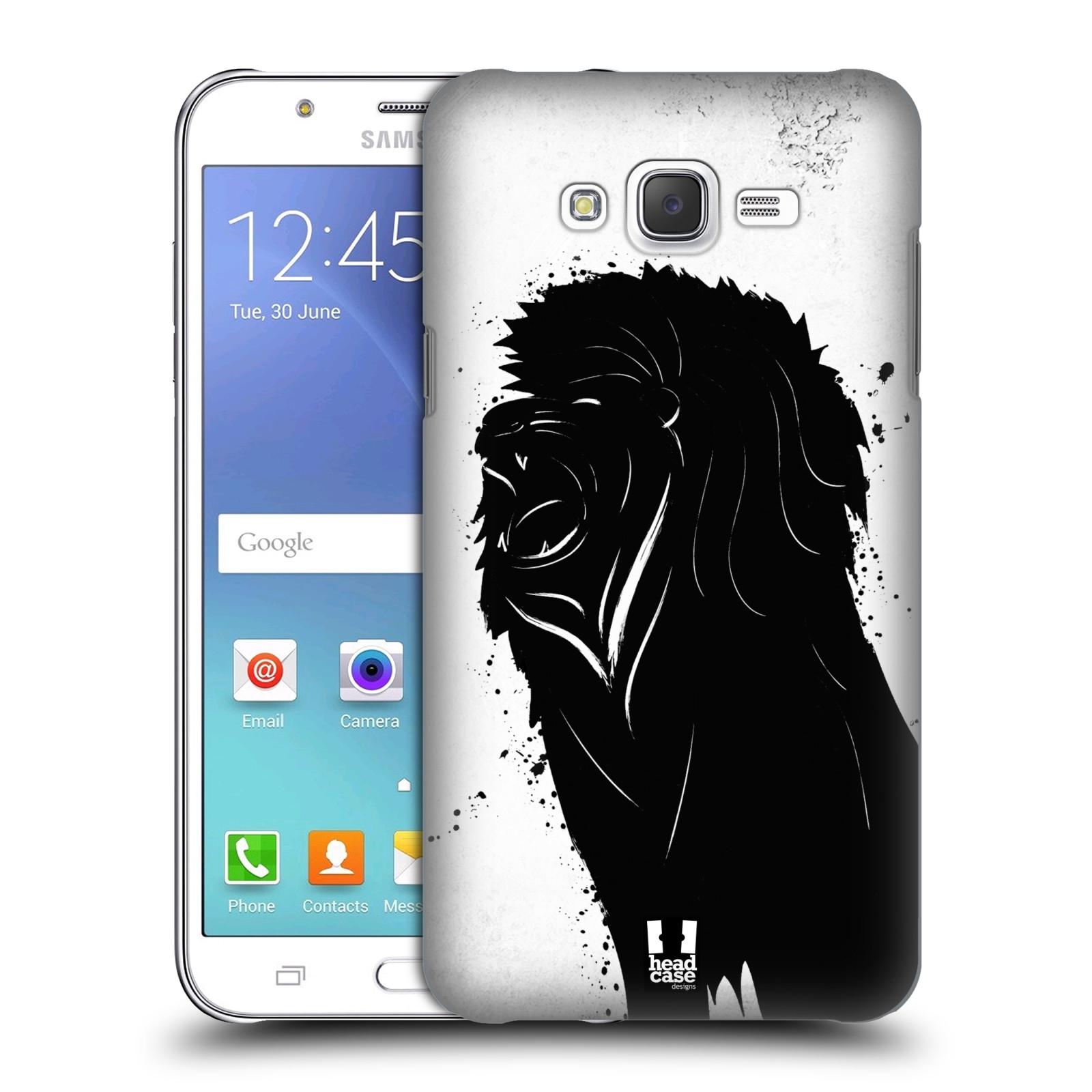 HEAD CASE plastový obal na mobil SAMSUNG Galaxy J7, J700 vzor Kresba tuš zvíře lev