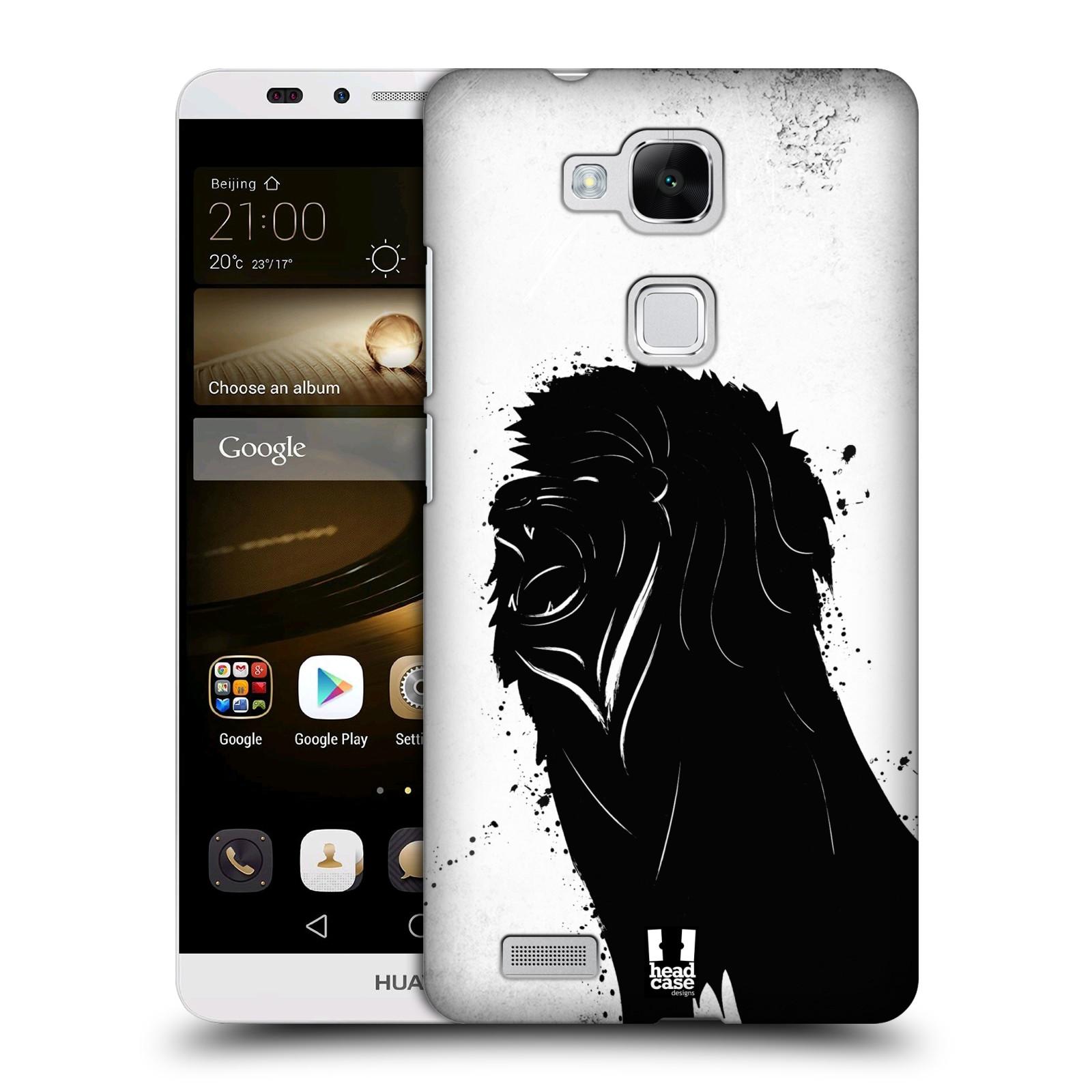 HEAD CASE plastový obal na mobil Huawei Mate 7 vzor Kresba tuš zvíře lev