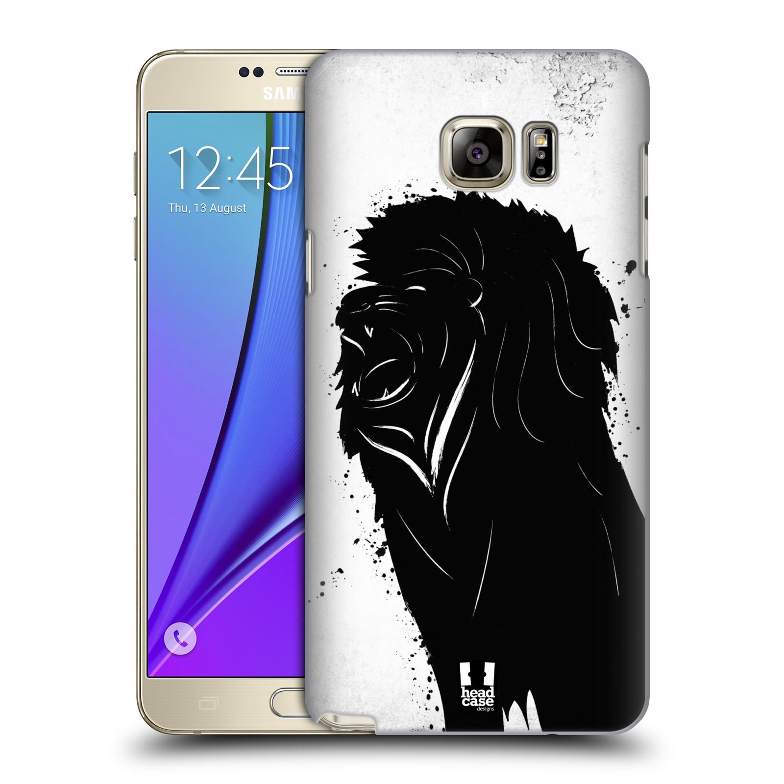 HEAD CASE plastový obal na mobil SAMSUNG Galaxy Note 5 (N920) vzor Kresba tuš zvíře lev