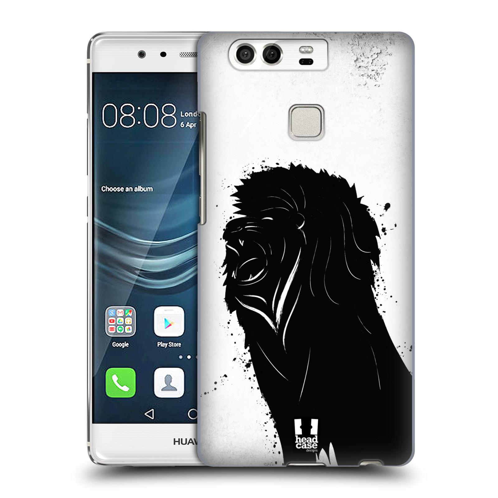 HEAD CASE plastový obal na mobil Huawei P9 / P9 DUAL SIM vzor Kresba tuš zvíře lev