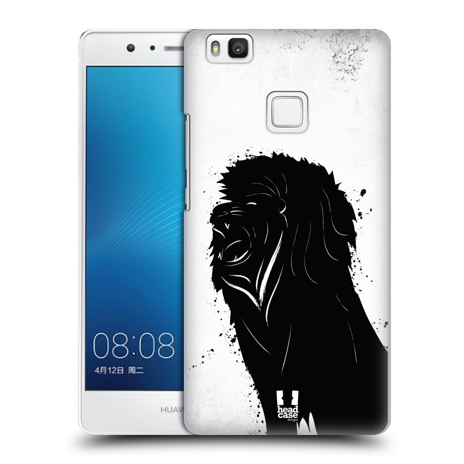HEAD CASE plastový obal na mobil Huawei P9 LITE / P9 LITE DUAL SIM vzor Kresba tuš zvíře lev