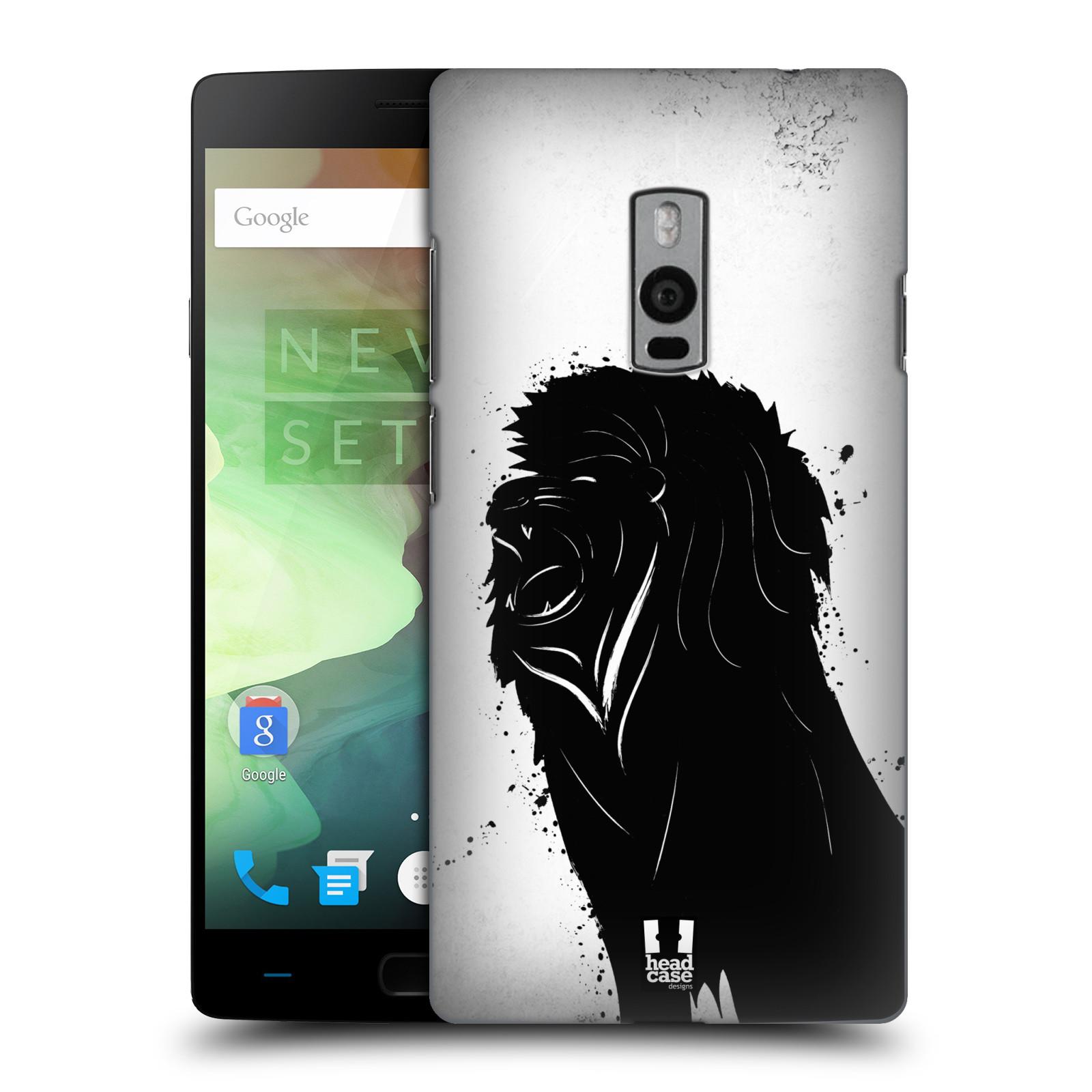 HEAD CASE pevný plastový obal na mobil OnePlus 2  ( TWO ) vzor Kresba tuš zvíře lev