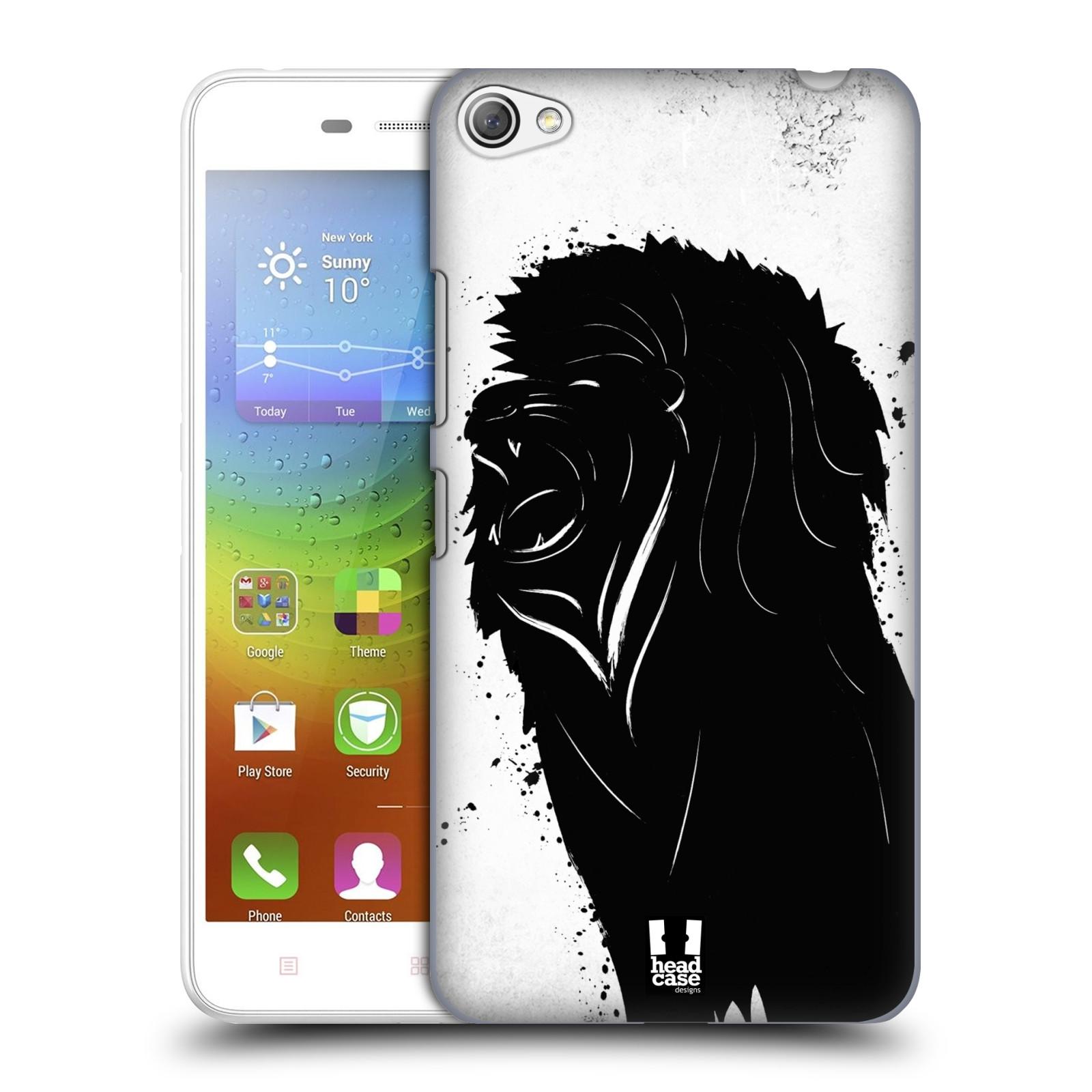 HEAD CASE pevný plastový obal na mobil LENOVO S60 / LENOVO S60 DUAL SIM vzor Kresba tuš zvíře lev