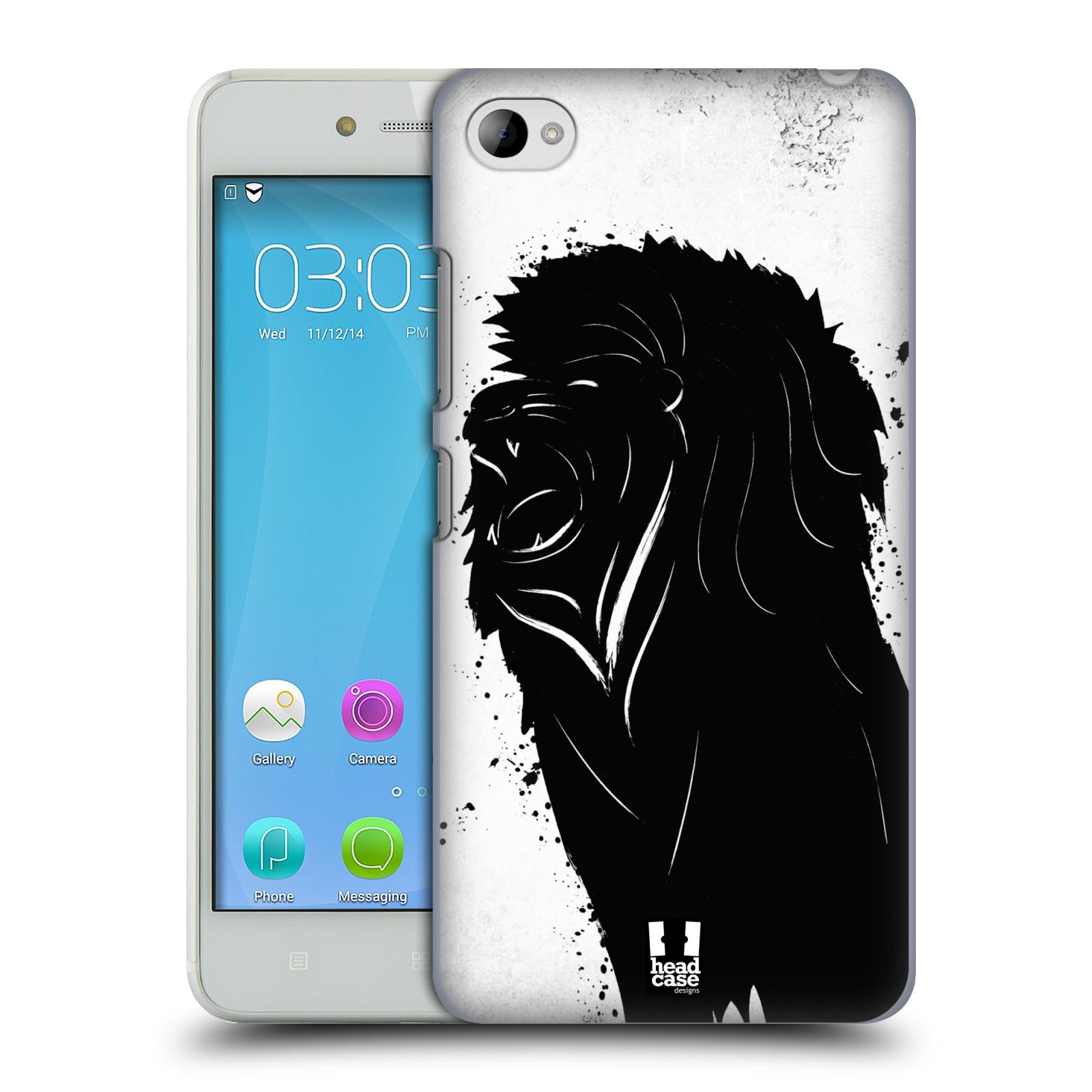 HEAD CASE pevný plastový obal na mobil LENOVO S90 vzor Kresba tuš zvíře lev