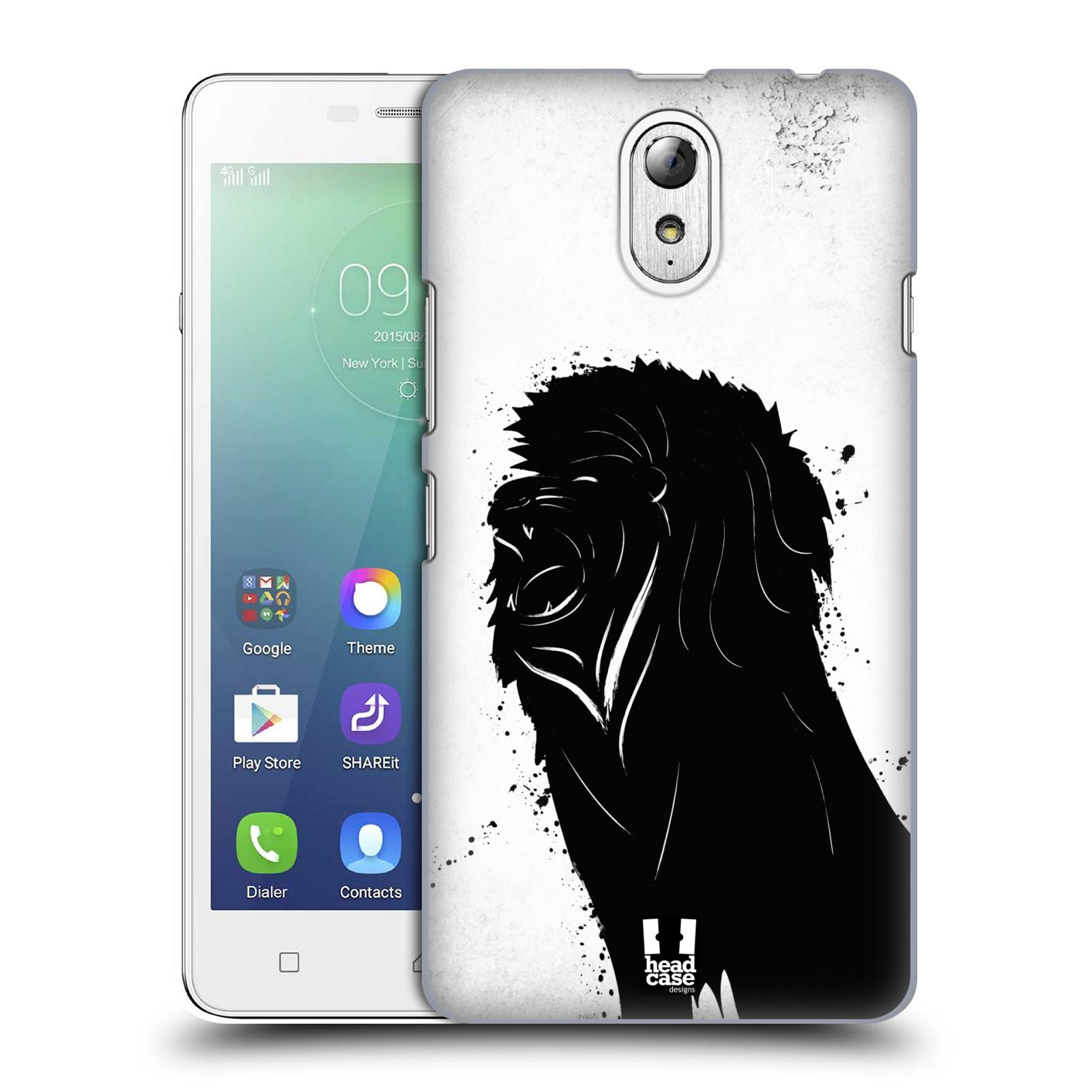 HEAD CASE pevný plastový obal na mobil LENOVO VIBE P1m / LENOVO VIBE p1m DUAL SIM vzor Kresba tuš zvíře lev