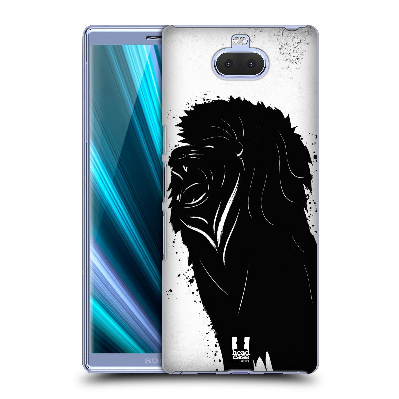 Pouzdro na mobil Sony Xperia 10 - Head Case - vzor Kresba tuš zvíře lev