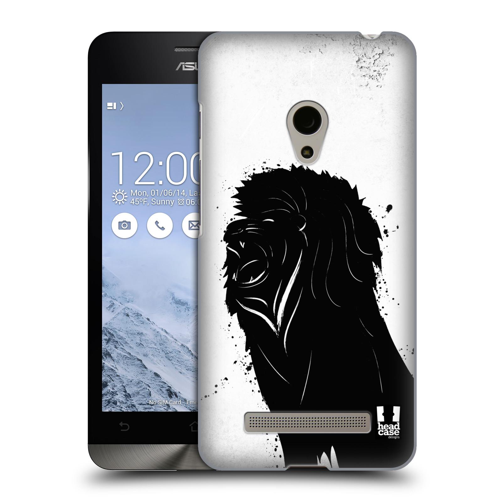 HEAD CASE plastový obal na mobil Asus Zenfone 5 vzor Kresba tuš zvíře lev