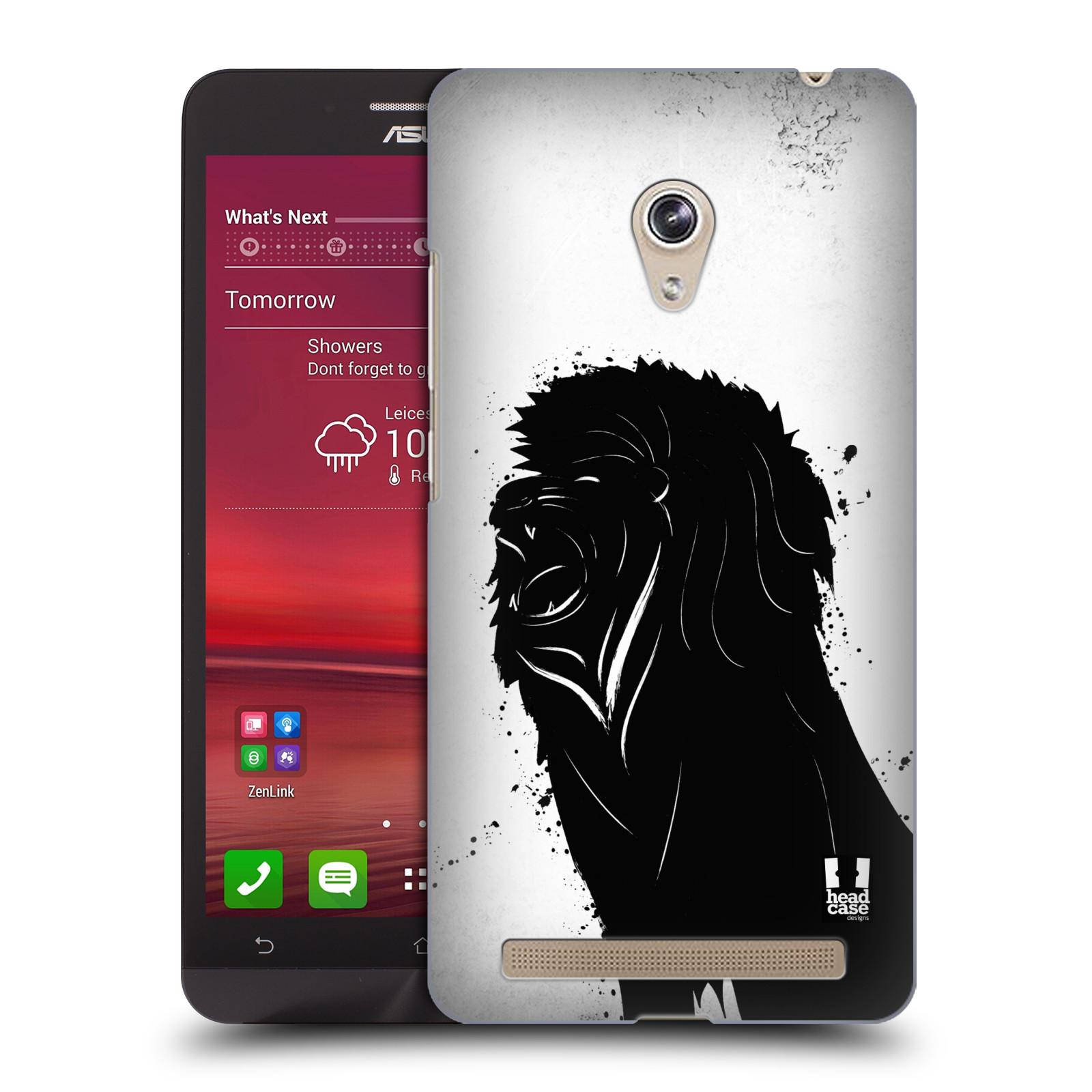 HEAD CASE plastový obal na mobil Asus Zenfone 6 vzor Kresba tuš zvíře lev