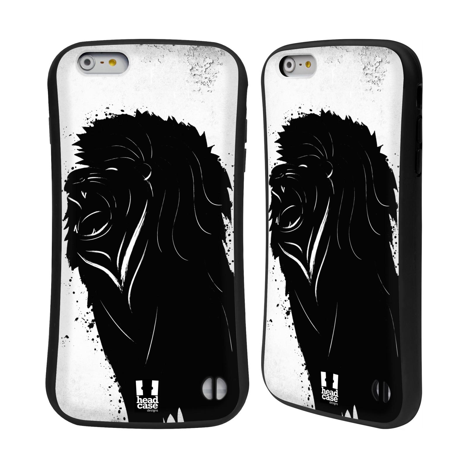 HEAD CASE silikon/plast odolný obal na mobil Apple Iphone 6 PLUS / 6S PLUS vzor Kresba tuš zvíře lev