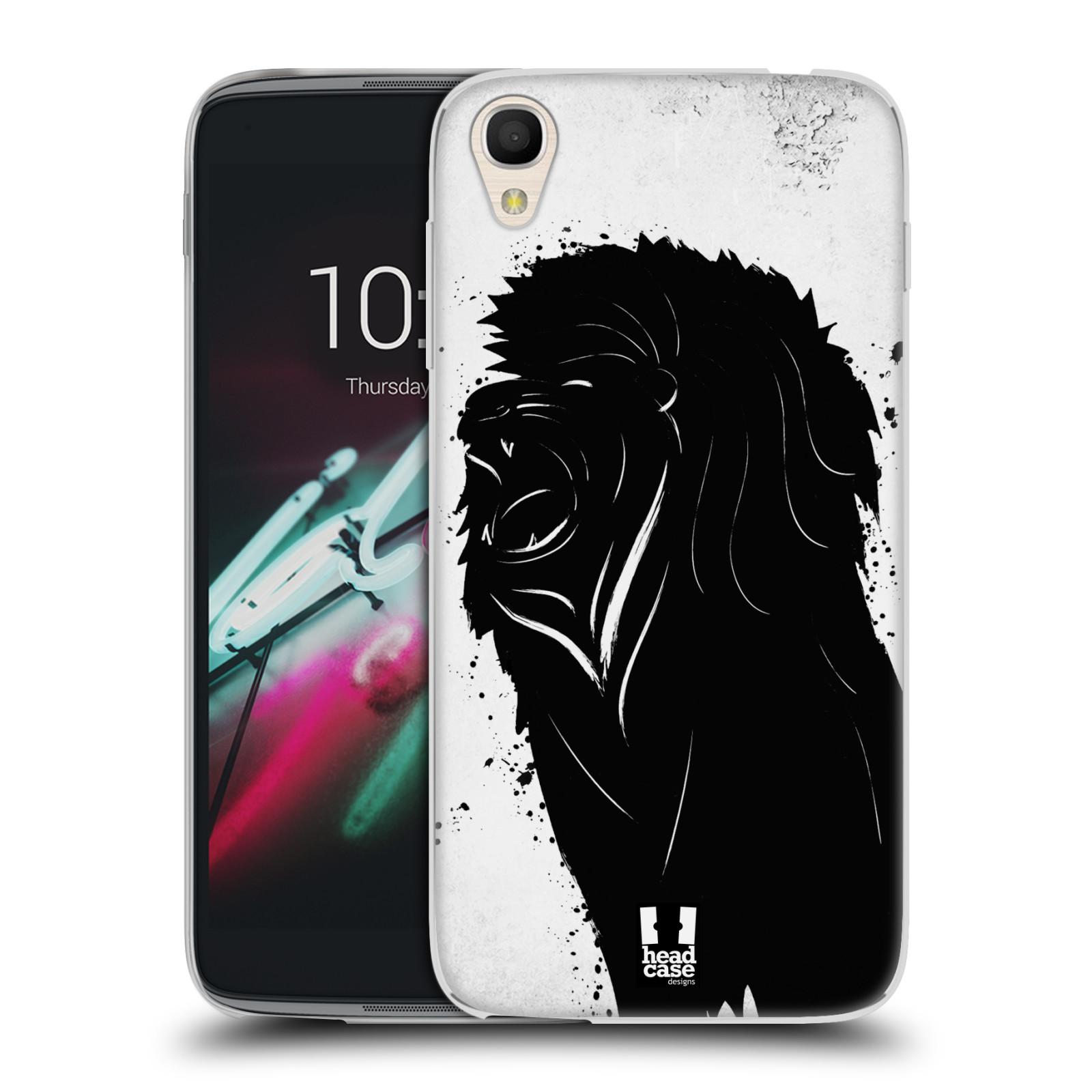 HEAD CASE silikonový obal na mobil Alcatel Idol 3 OT-6039Y (4.7) vzor Kresba tuš zvíře lev