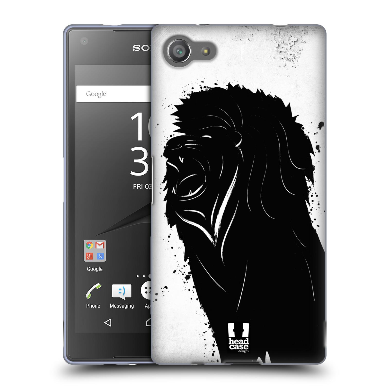 HEAD CASE silikonový obal na mobil Sony Xperia Z5 COMPACT vzor Kresba tuš zvíře lev