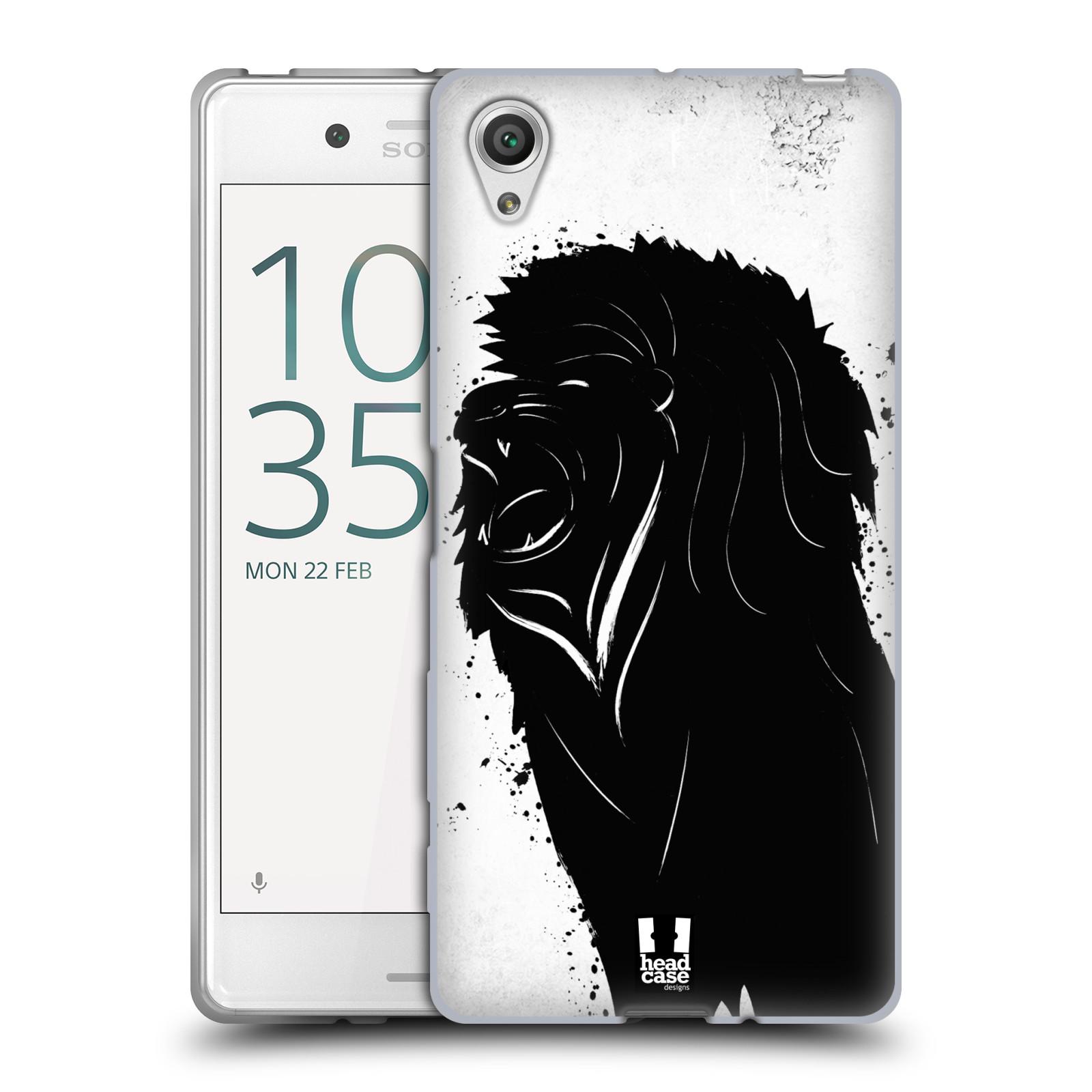 HEAD CASE silikonový obal na mobil Sony Xperia X / X DUAL vzor Kresba tuš zvíře lev