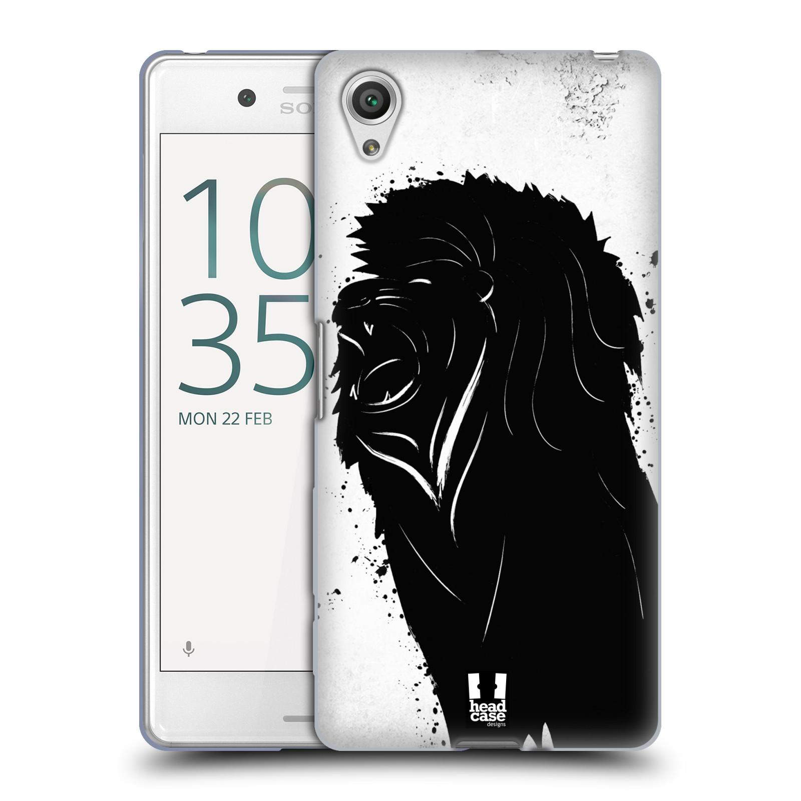 HEAD CASE silikonový obal na mobil Sony Xperia X PERFORMANCE (F8131, F8132) vzor Kresba tuš zvíře lev