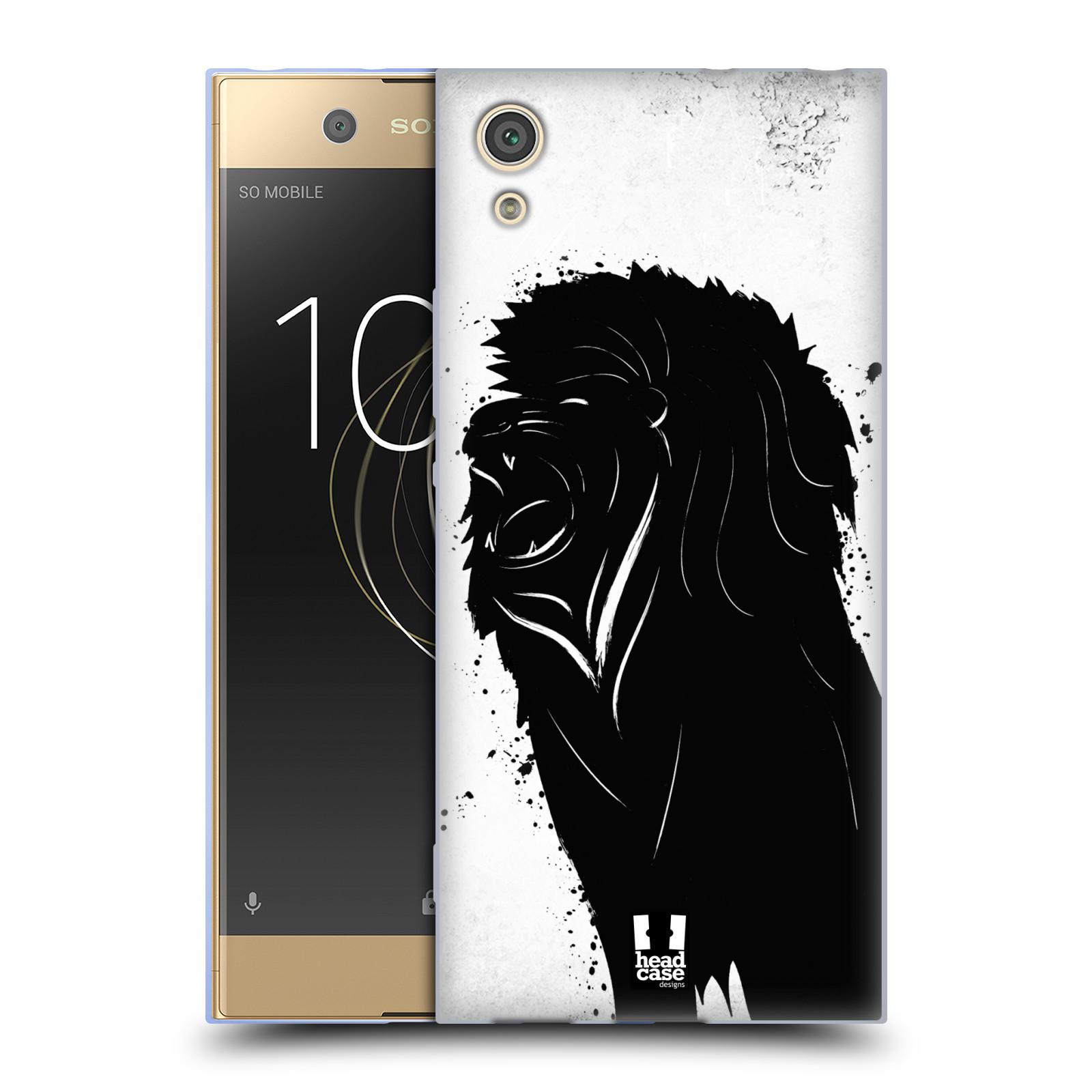 HEAD CASE silikonový obal na mobil Sony Xperia XA1 / XA1 DUAL SIM vzor Kresba tuš zvíře lev