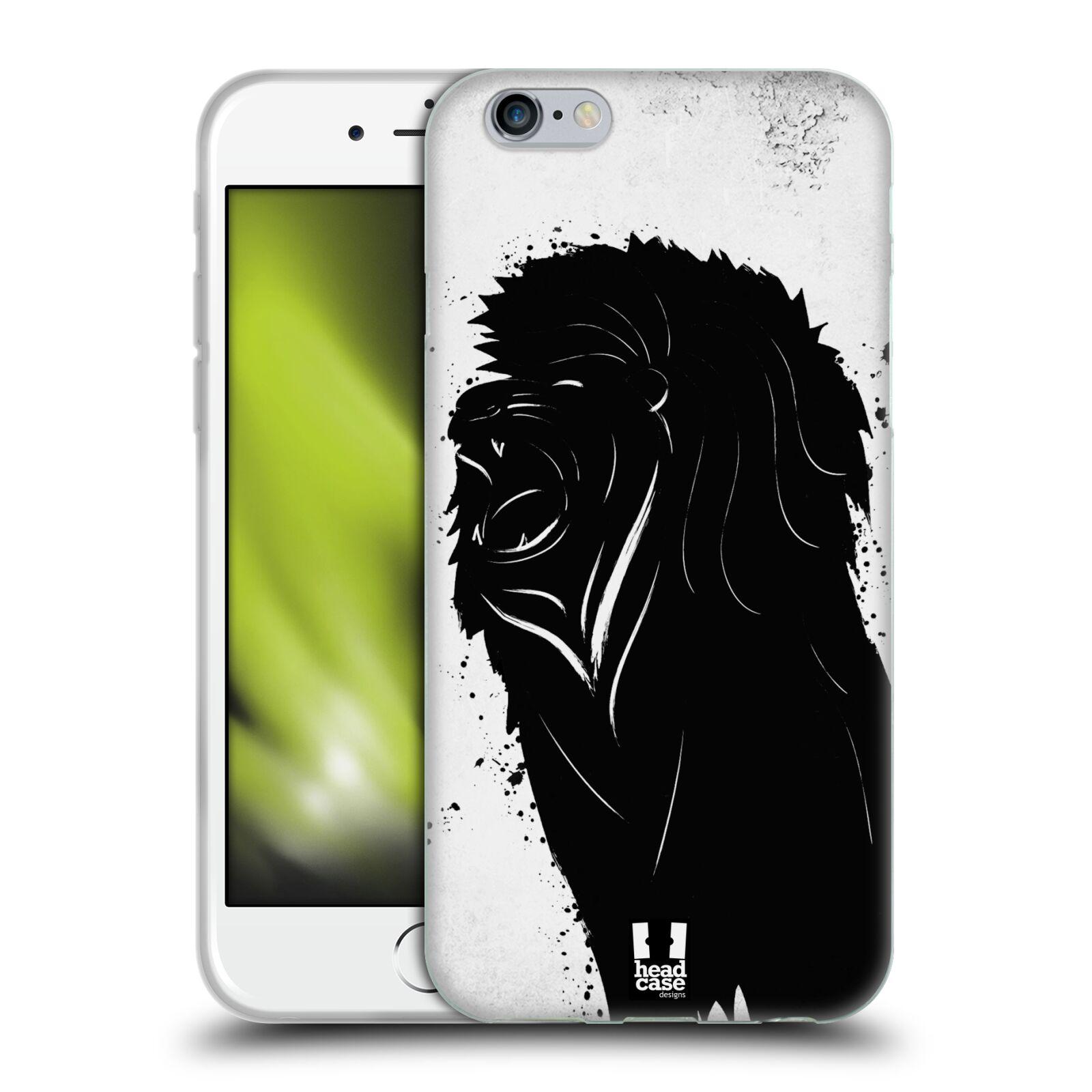 HEAD CASE silikonový obal na mobil Apple Iphone 6/6S vzor Kresba tuš zvíře lev