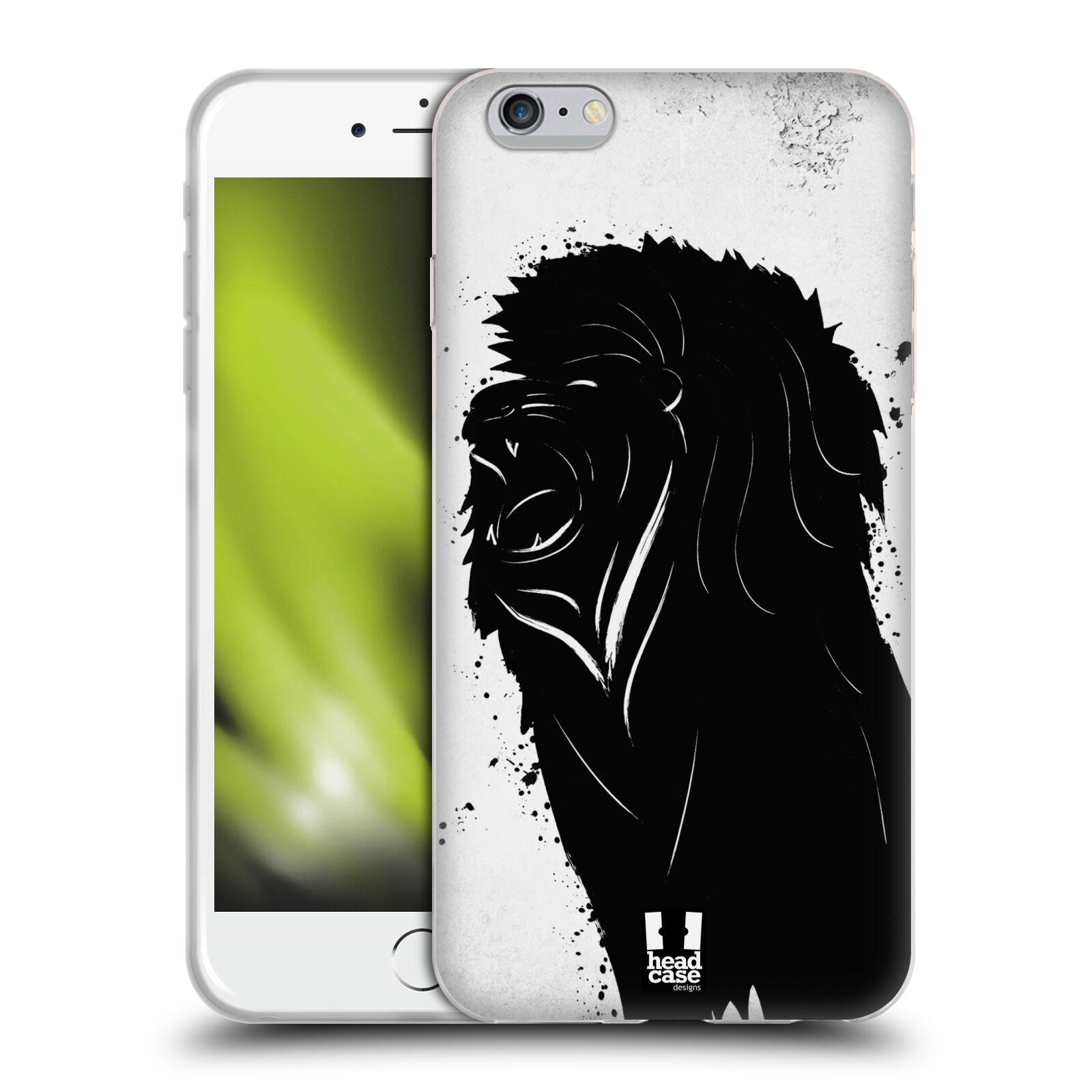 HEAD CASE silikonový obal na mobil Apple Iphone 6 PLUS/ 6S PLUS vzor Kresba tuš zvíře lev