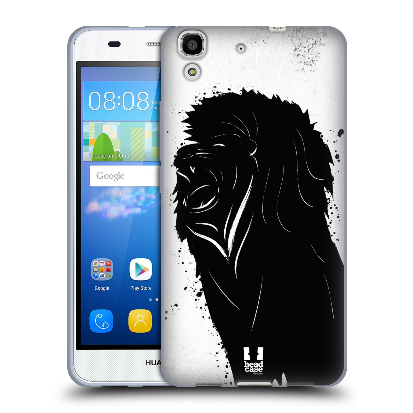 HEAD CASE silikonový obal na mobil HUAWEI Y6 vzor Kresba tuš zvíře lev