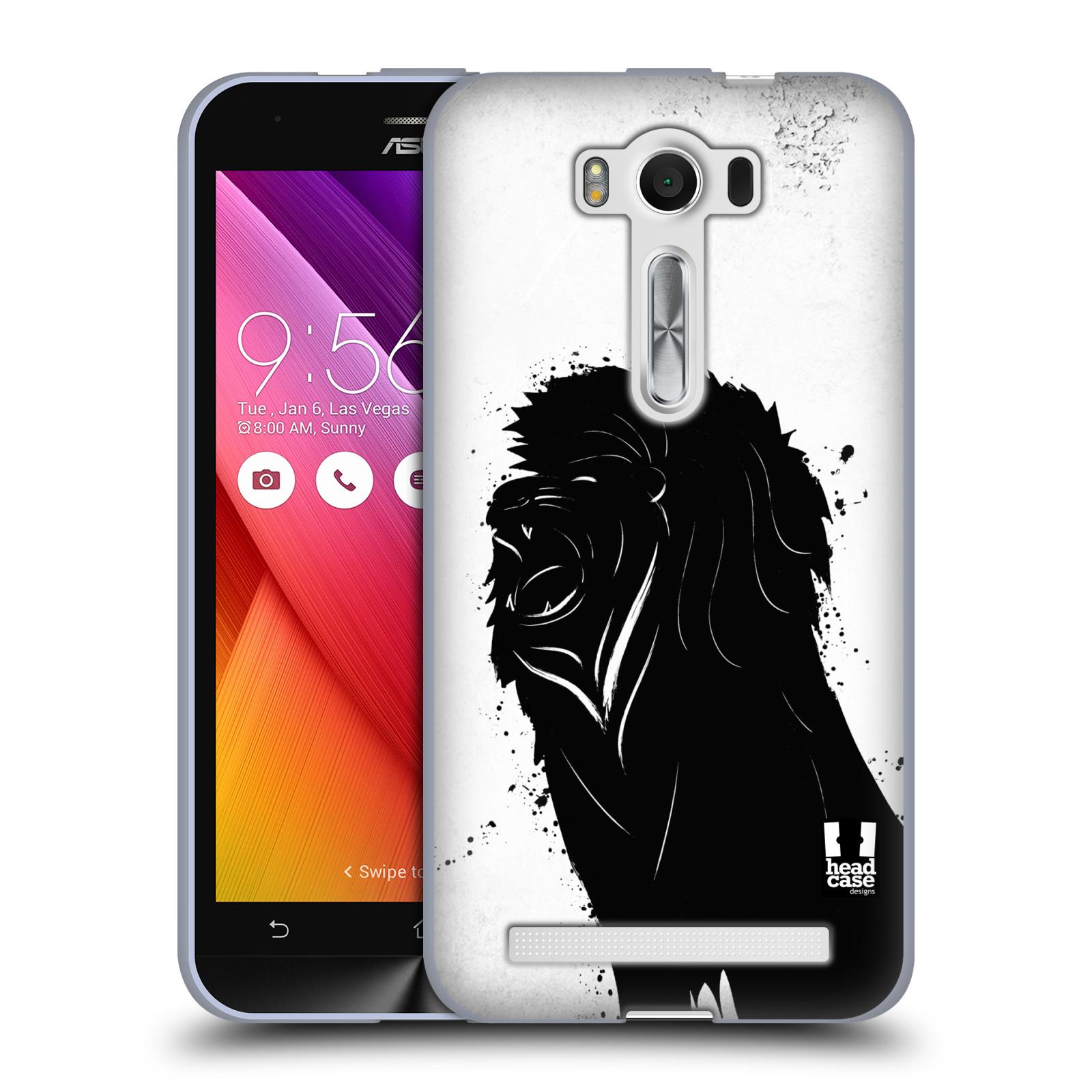"""HEAD CASE silikonový obal na mobil Asus Zenfone 2 LASER (ZE500KL s 5"""" displejem) vzor Kresba tuš zvíře lev"""