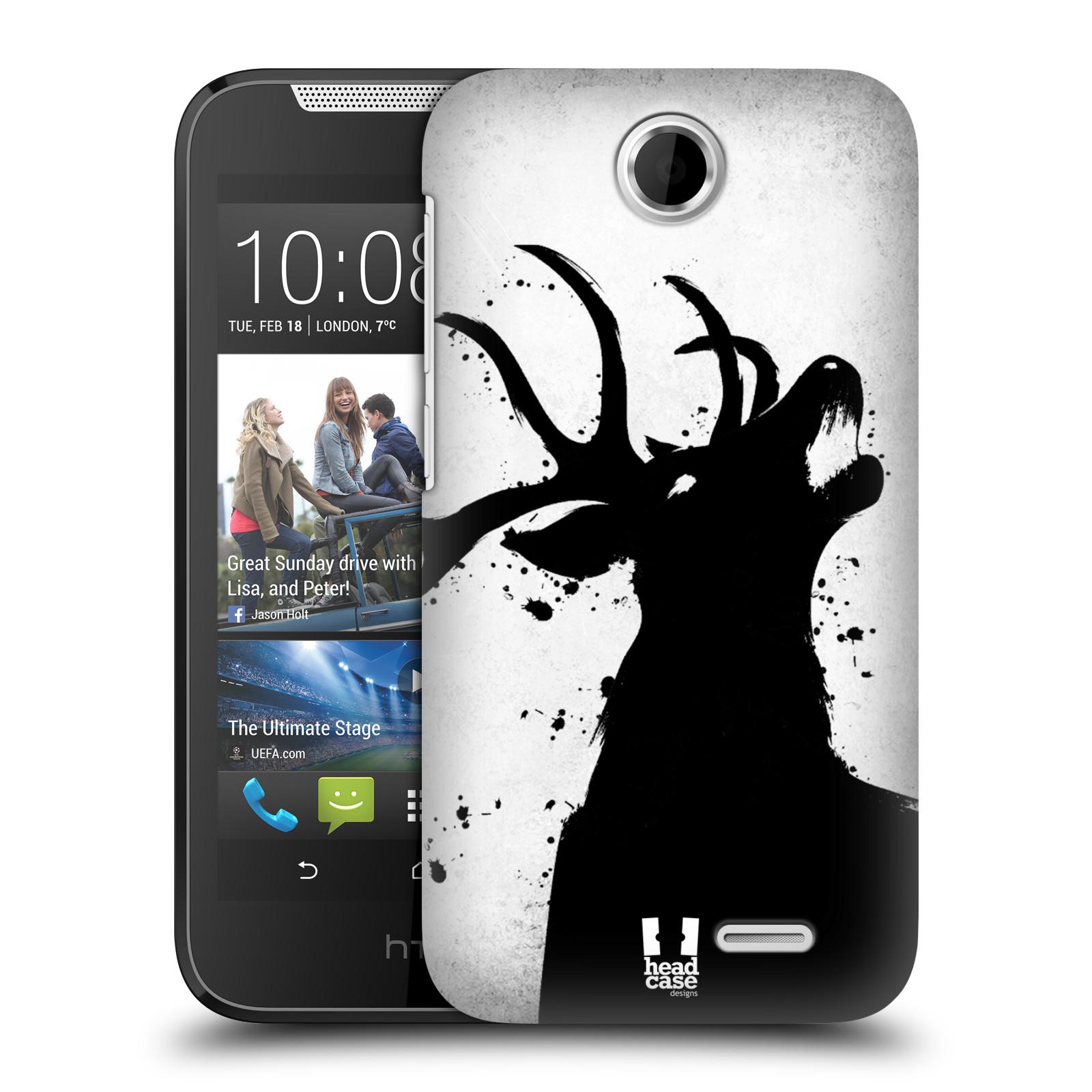 HEAD CASE plastový obal na mobil HTC Desire 310 vzor Kresba tuš zvíře jelen