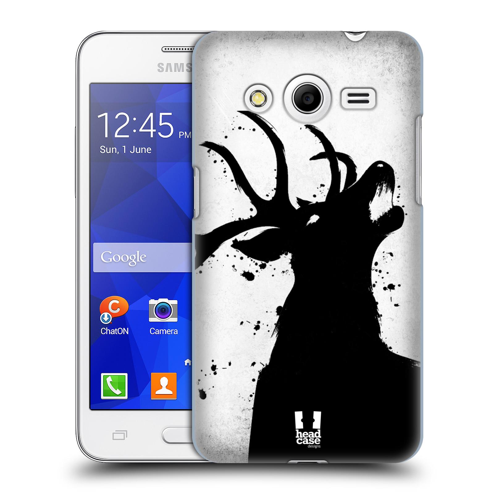 HEAD CASE plastový obal na mobil SAMSUNG GALAXY Core 2 (G355H) vzor Kresba tuš zvíře jelen