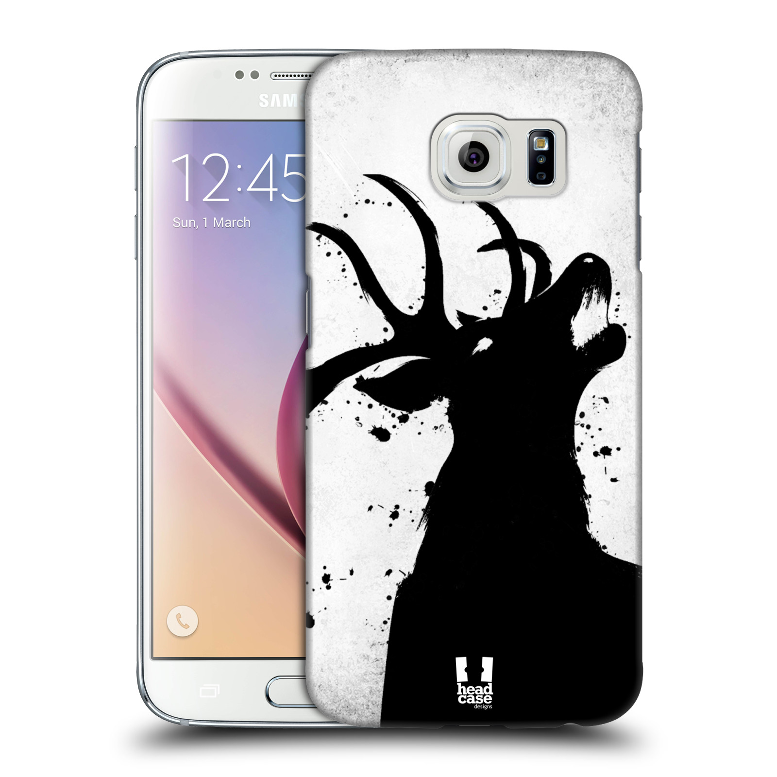 HEAD CASE plastový obal na mobil SAMSUNG Galaxy S6 (G9200, G920F) vzor Kresba tuš zvíře jelen