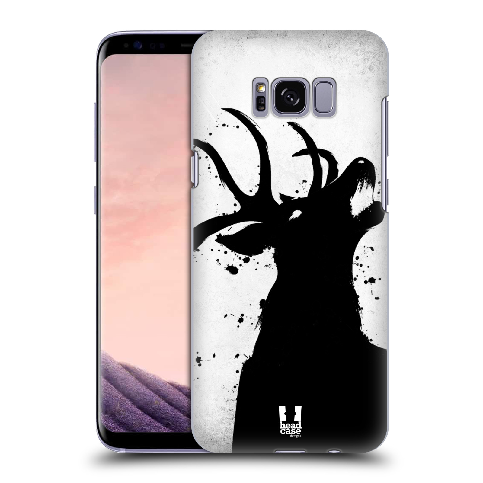 HEAD CASE plastový obal na mobil Samsung Galaxy S8 vzor Kresba tuš zvíře jelen