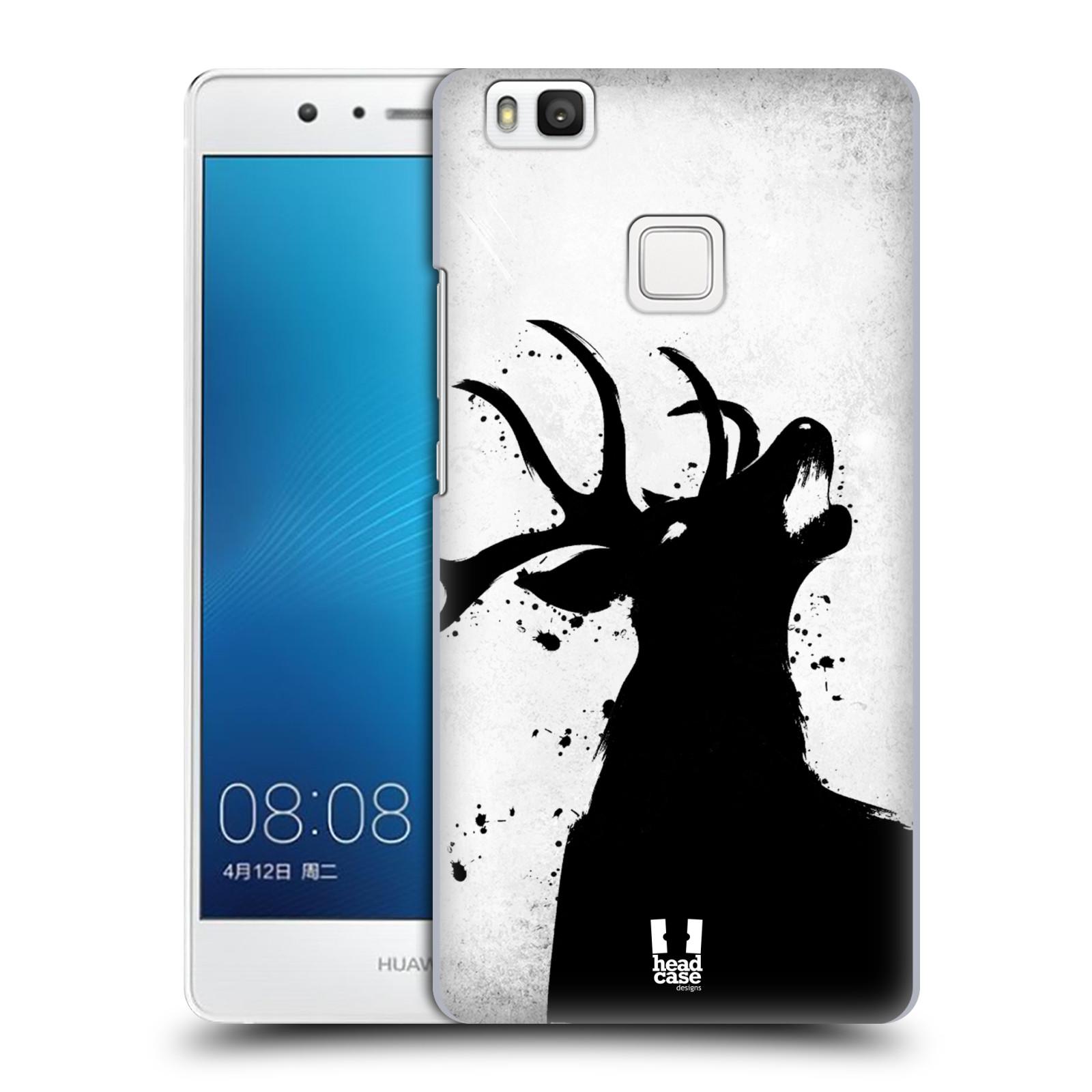 HEAD CASE plastový obal na mobil Huawei P9 LITE / P9 LITE DUAL SIM vzor Kresba tuš zvíře jelen