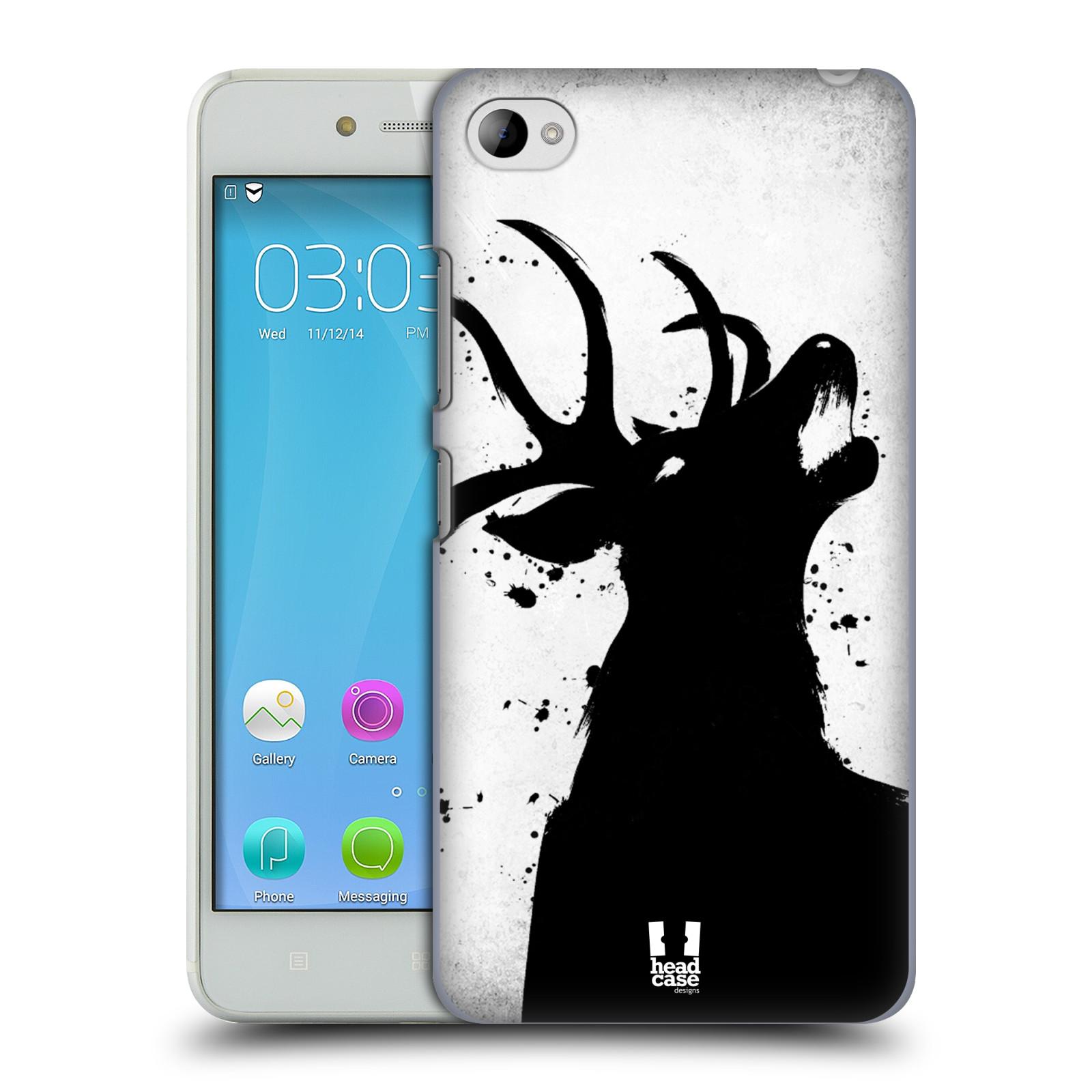 HEAD CASE pevný plastový obal na mobil LENOVO S90 vzor Kresba tuš zvíře jelen