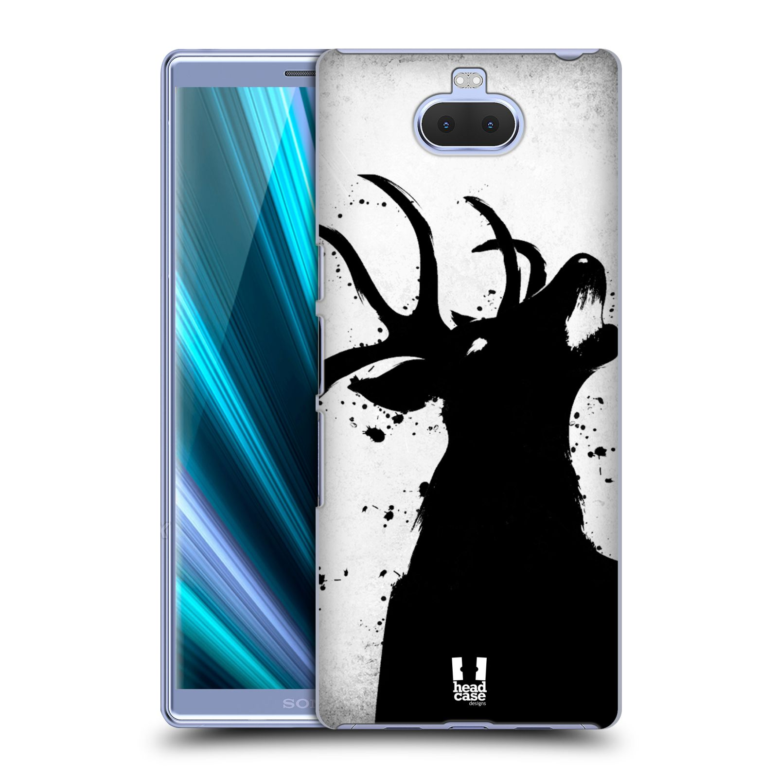 Pouzdro na mobil Sony Xperia 10 - Head Case - vzor Kresba tuš zvíře jelen