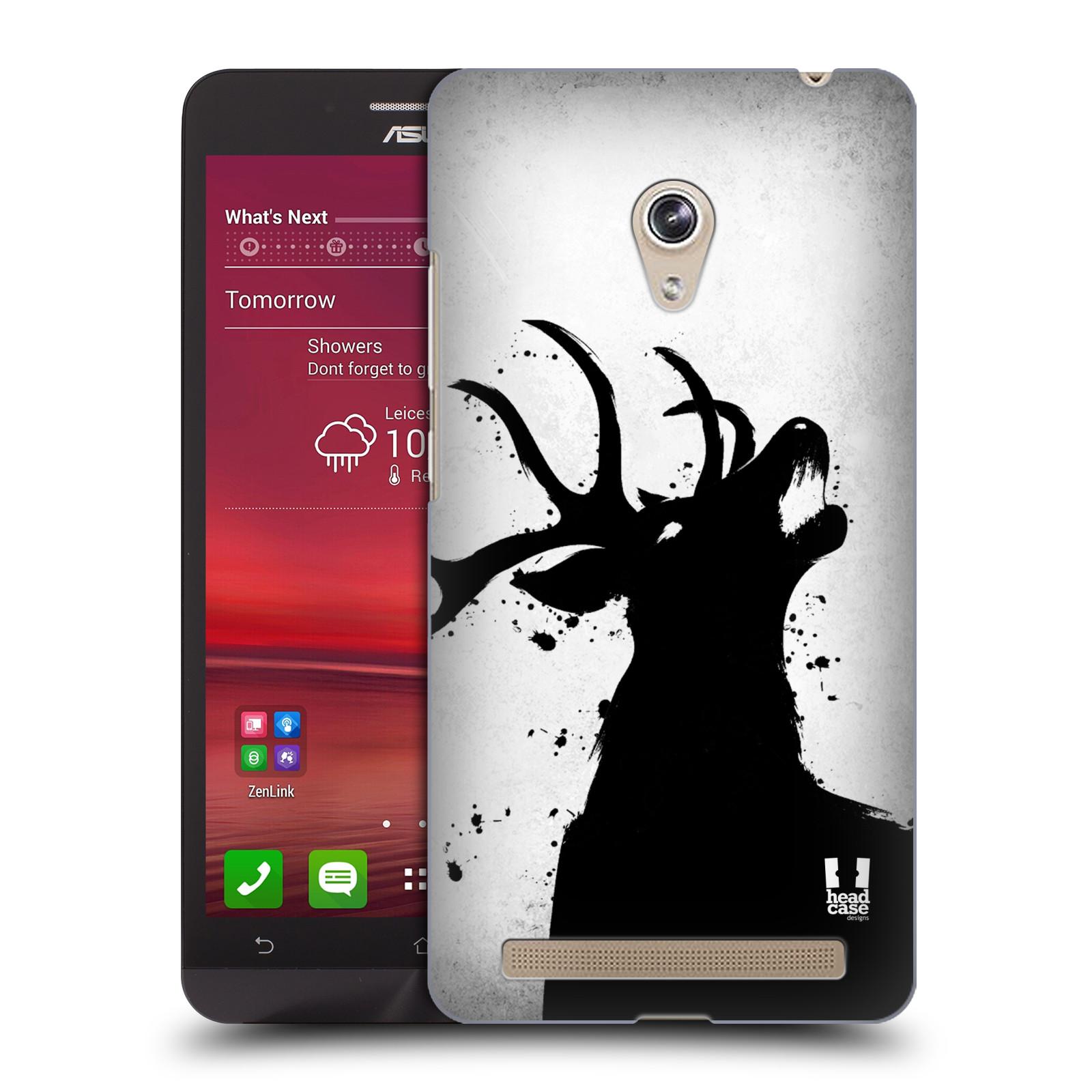 HEAD CASE plastový obal na mobil Asus Zenfone 6 vzor Kresba tuš zvíře jelen