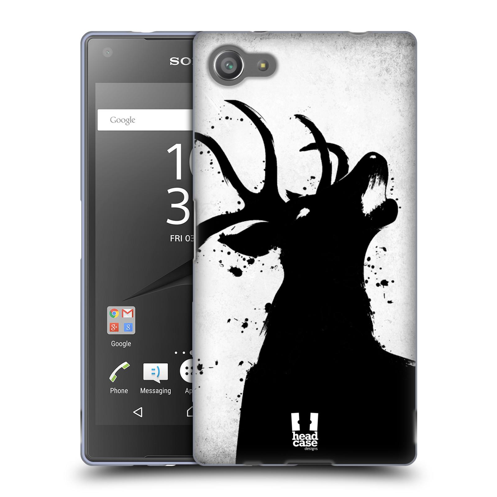 HEAD CASE silikonový obal na mobil Sony Xperia Z5 COMPACT vzor Kresba tuš zvíře jelen