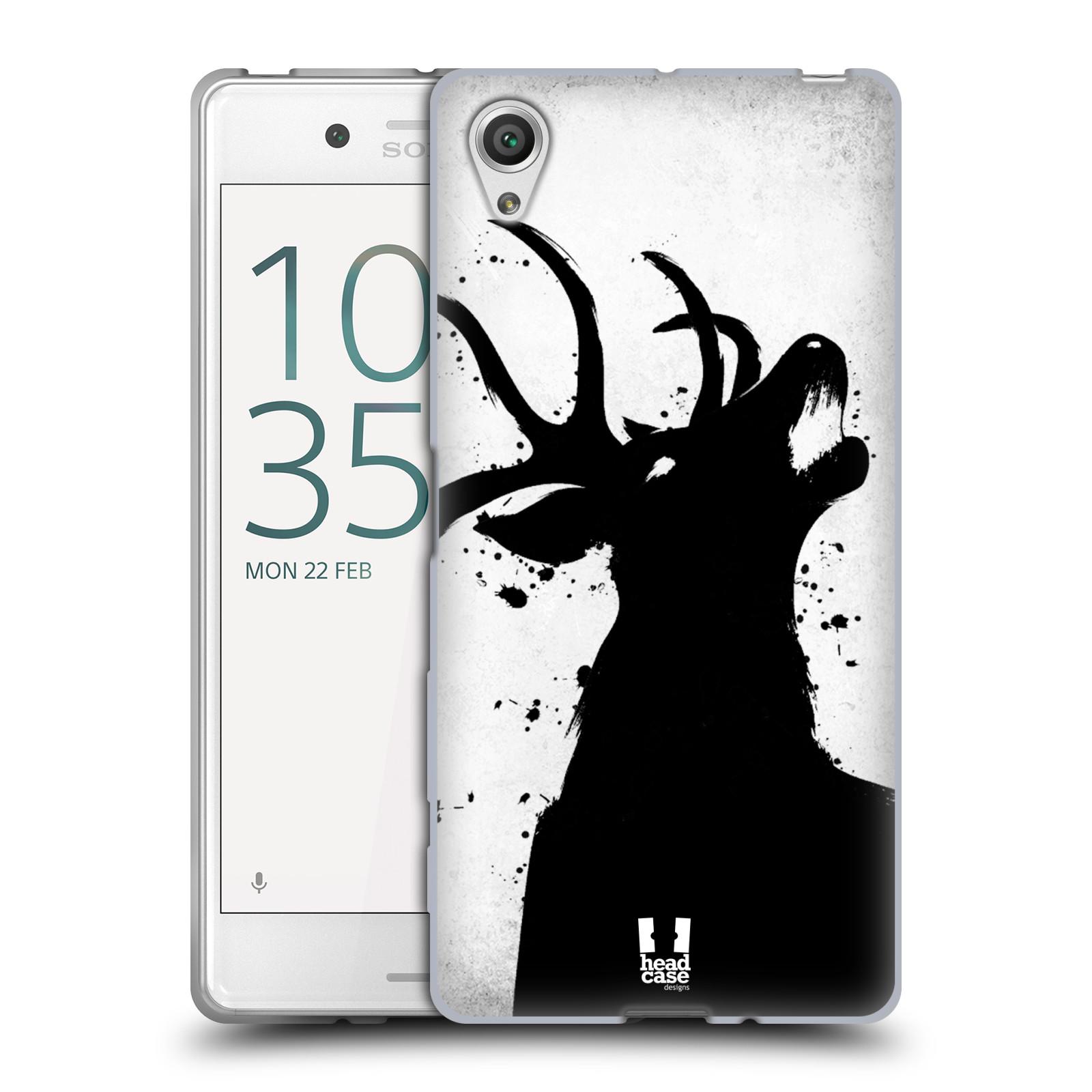 HEAD CASE silikonový obal na mobil Sony Xperia X / X DUAL vzor Kresba tuš zvíře jelen