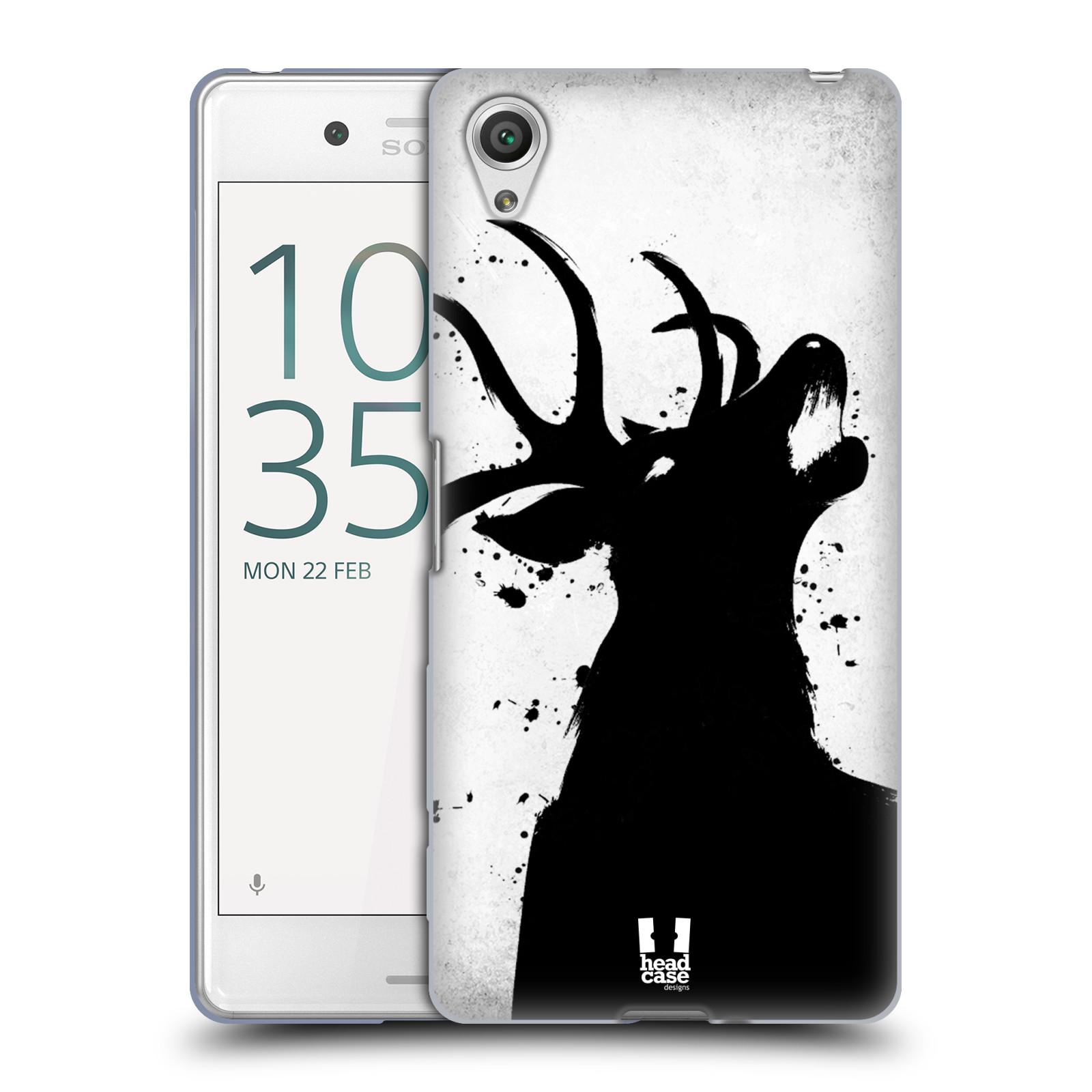 HEAD CASE silikonový obal na mobil Sony Xperia X PERFORMANCE (F8131, F8132) vzor Kresba tuš zvíře jelen