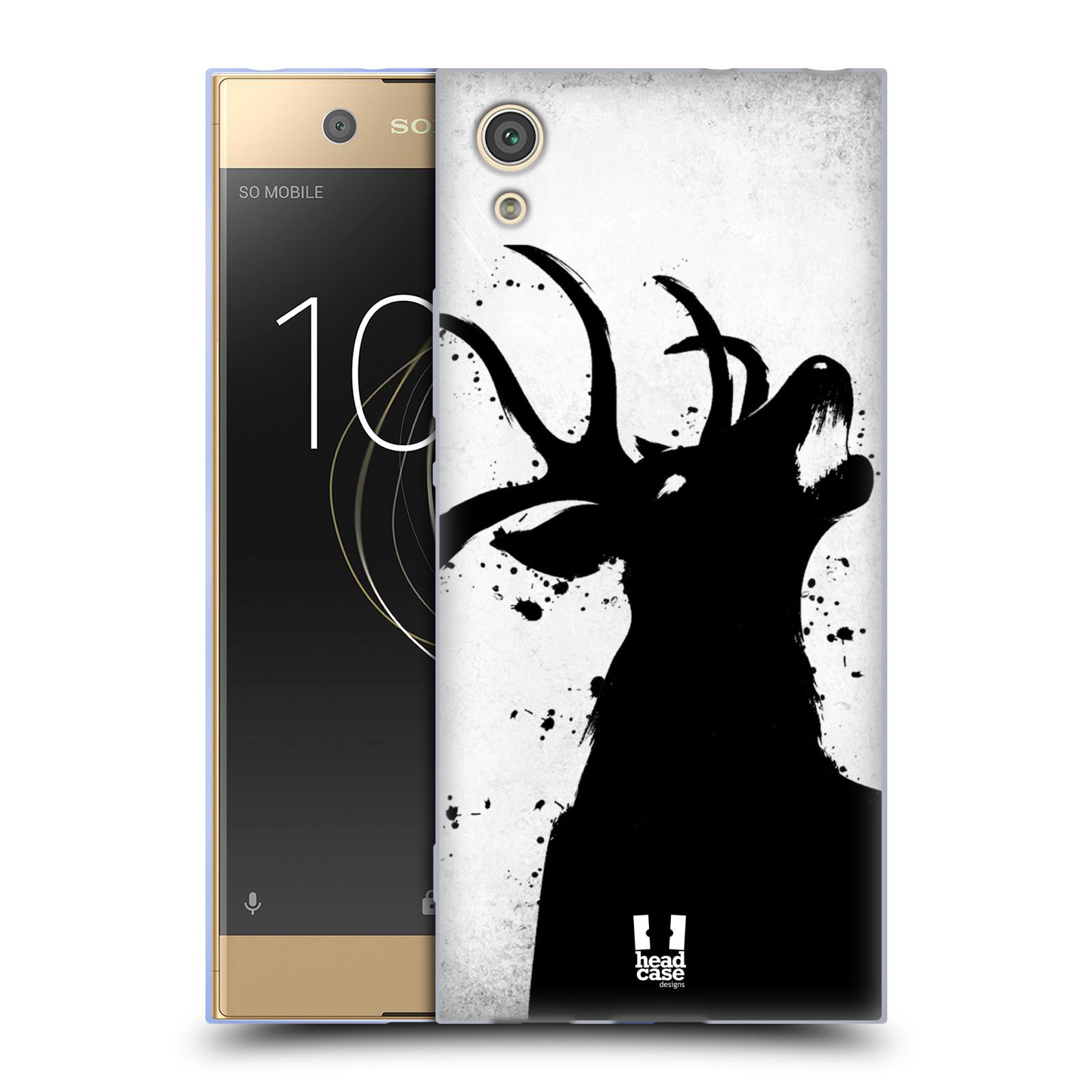 HEAD CASE silikonový obal na mobil Sony Xperia XA1 / XA1 DUAL SIM vzor Kresba tuš zvíře jelen