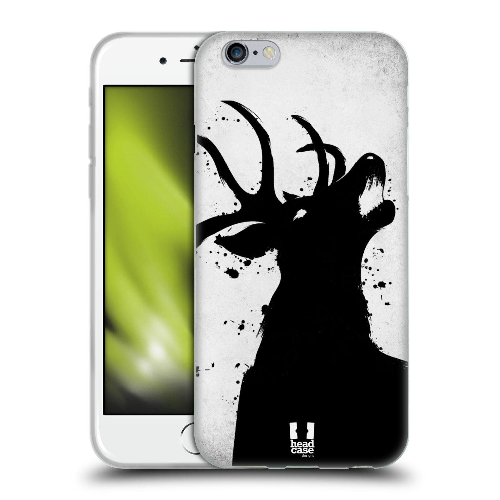 HEAD CASE silikonový obal na mobil Apple Iphone 6/6S vzor Kresba tuš zvíře jelen