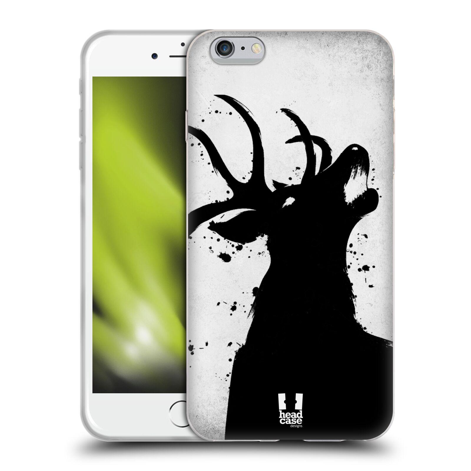 HEAD CASE silikonový obal na mobil Apple Iphone 6 PLUS/ 6S PLUS vzor Kresba tuš zvíře jelen