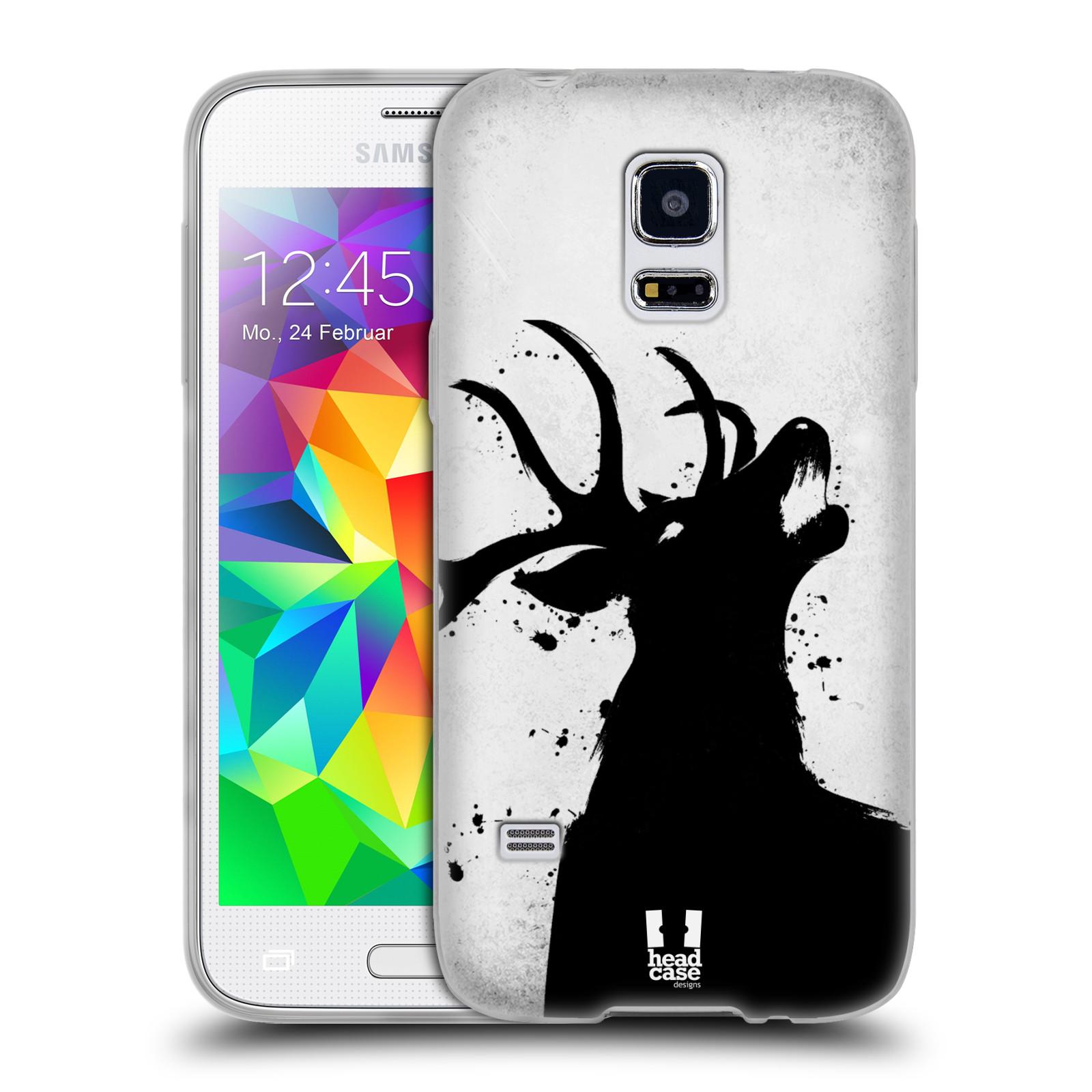 HEAD CASE silikonový obal na mobil Samsung Galaxy S5 MINI vzor Kresba tuš zvíře jelen