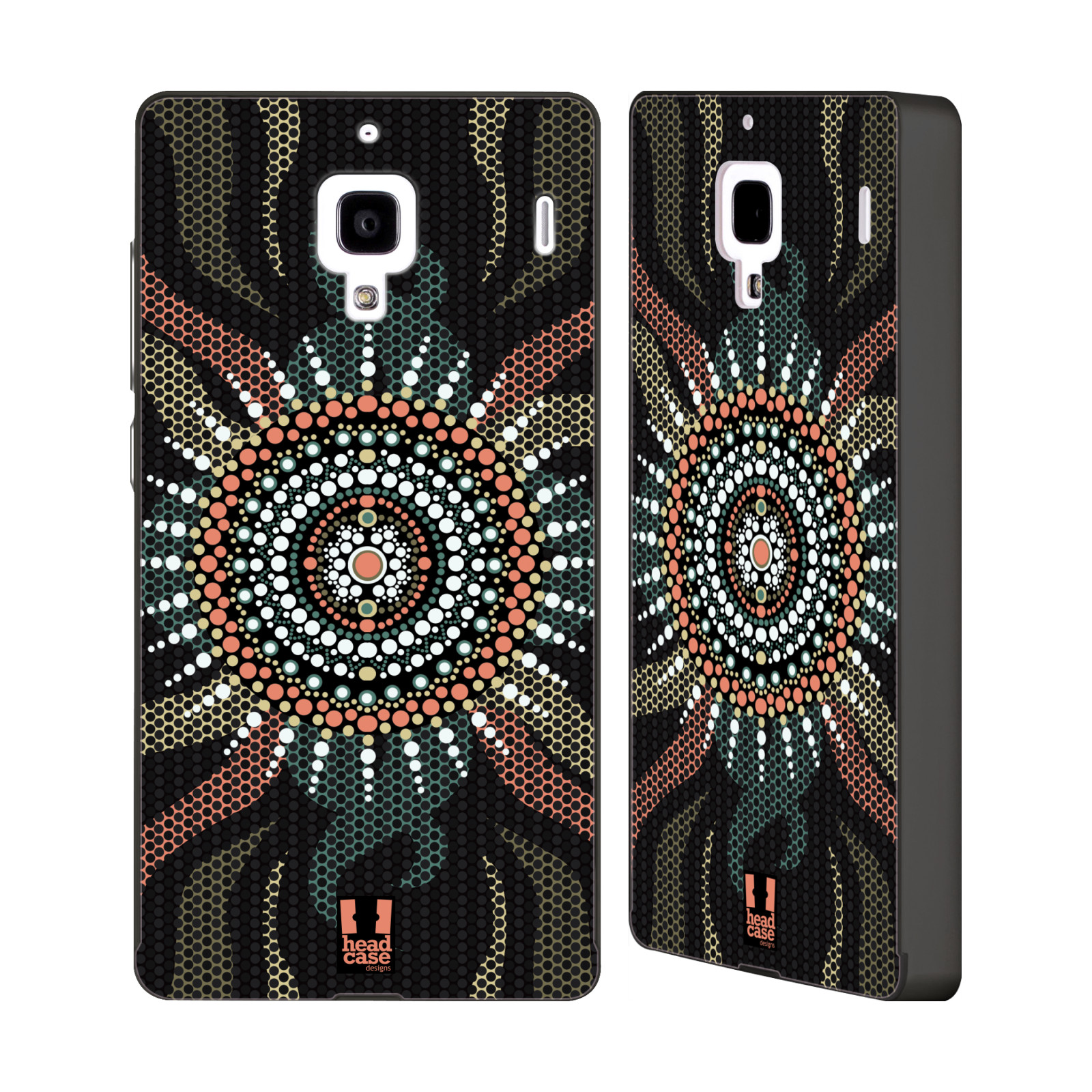 HEAD-CASE-DESIGNS-ABORIGINAL-DOTS-BLACK-SLIDER-CASE-FOR-HUAWEI-XIAOMI-PHONES