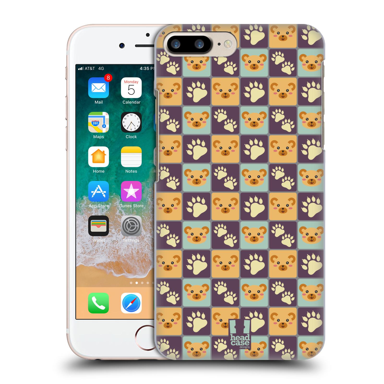 HEAD CASE plastový obal na mobil Apple Iphone 7 PLUS vzor Zvířecí razítka MEDVÍDEK