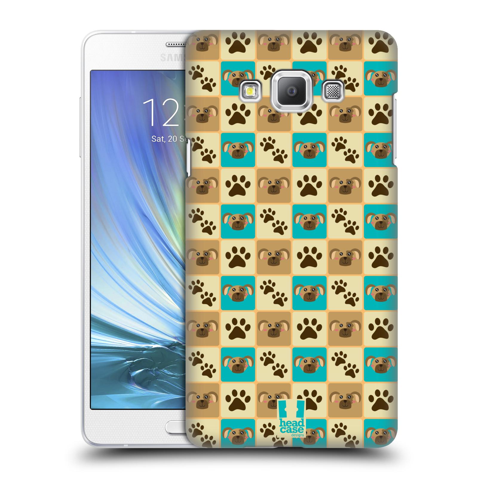 HEAD CASE plastový obal na mobil SAMSUNG GALAXY A7 vzor Zvířecí razítka PSÍ TLAPKA