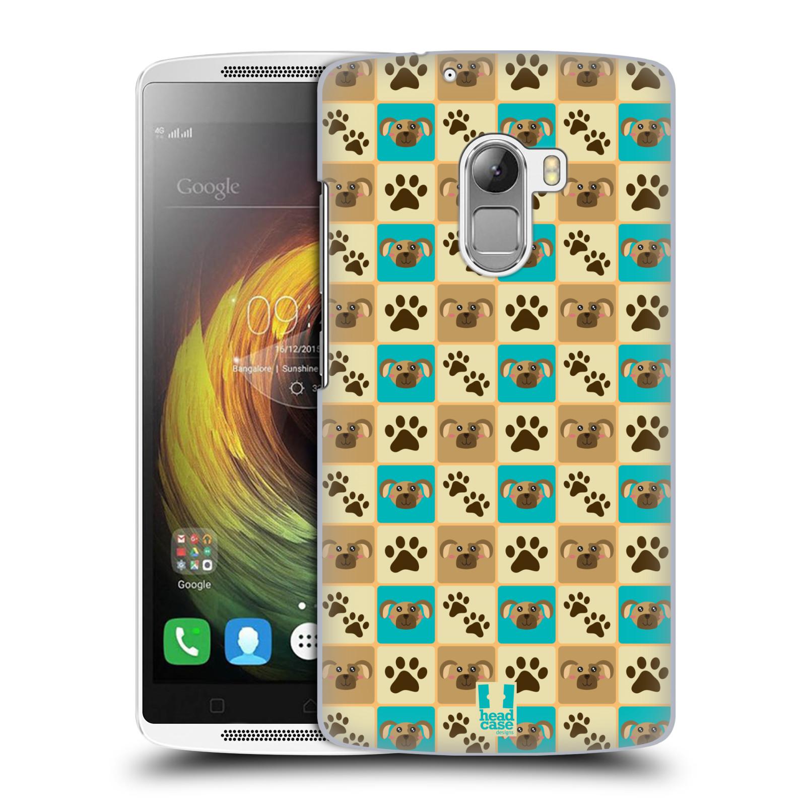HEAD CASE pevný plastový obal na mobil LENOVO A7010 / A7010 DUAL / K4 Note / Vibe X3 lite vzor Zvířecí razítka PSÍ TLAPKA
