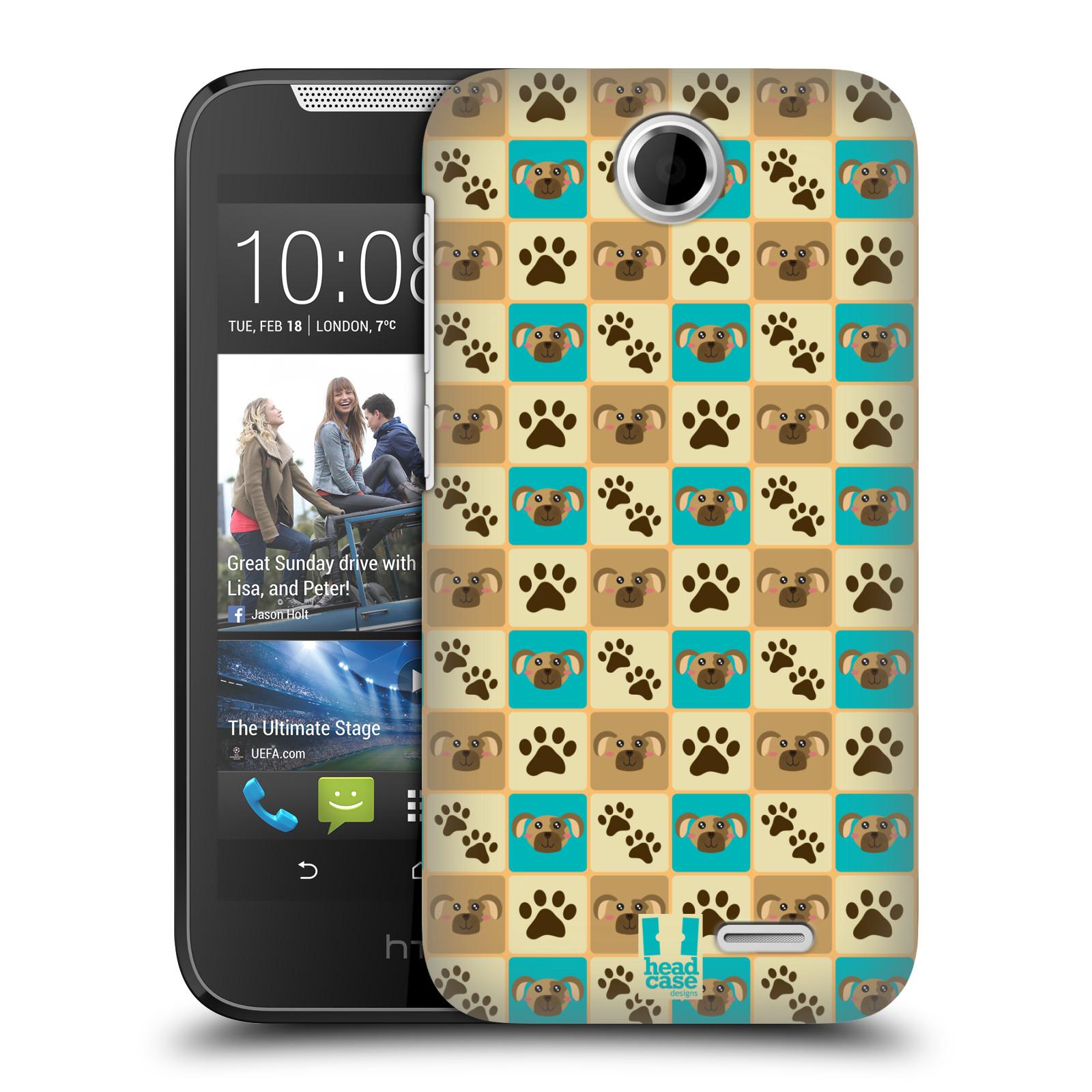 HEAD CASE plastový obal na mobil HTC Desire 310 vzor Zvířecí razítka PSÍ TLAPKA
