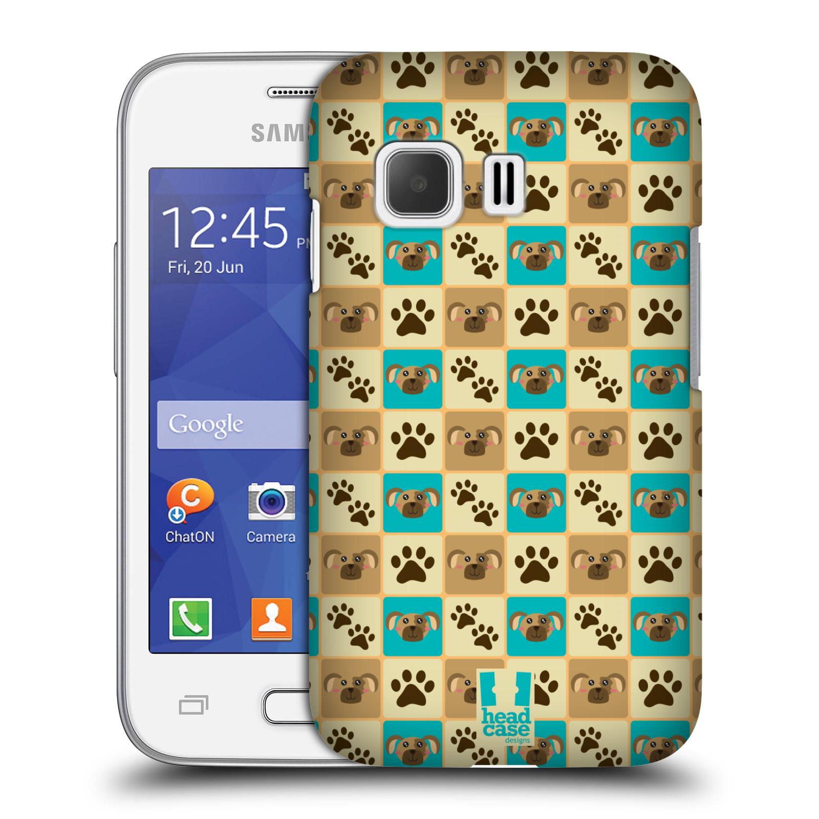HEAD CASE plastový obal na mobil SAMSUNG Galaxy Young 2 (G130) vzor Zvířecí razítka PSÍ TLAPKA