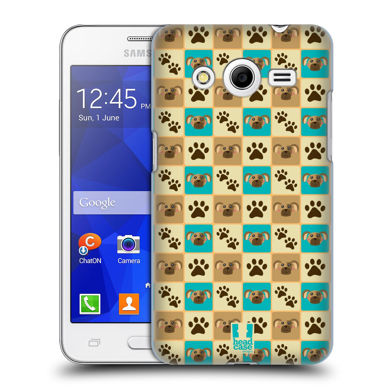 HEAD CASE plastový obal na mobil SAMSUNG GALAXY Core 2 (G355H) vzor Zvířecí razítka PSÍ TLAPKA