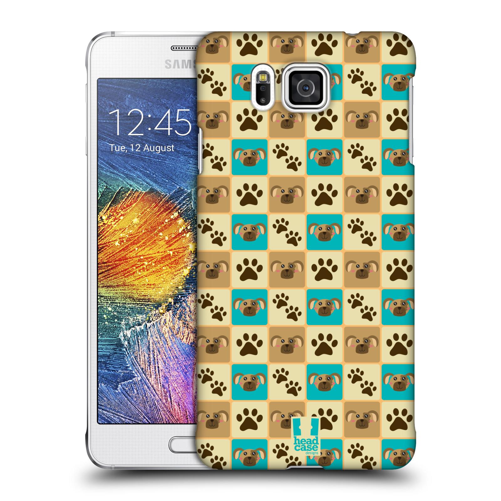 HEAD CASE plastový obal na mobil SAMSUNG Galaxy Alpha (G850) vzor Zvířecí razítka PSÍ TLAPKA