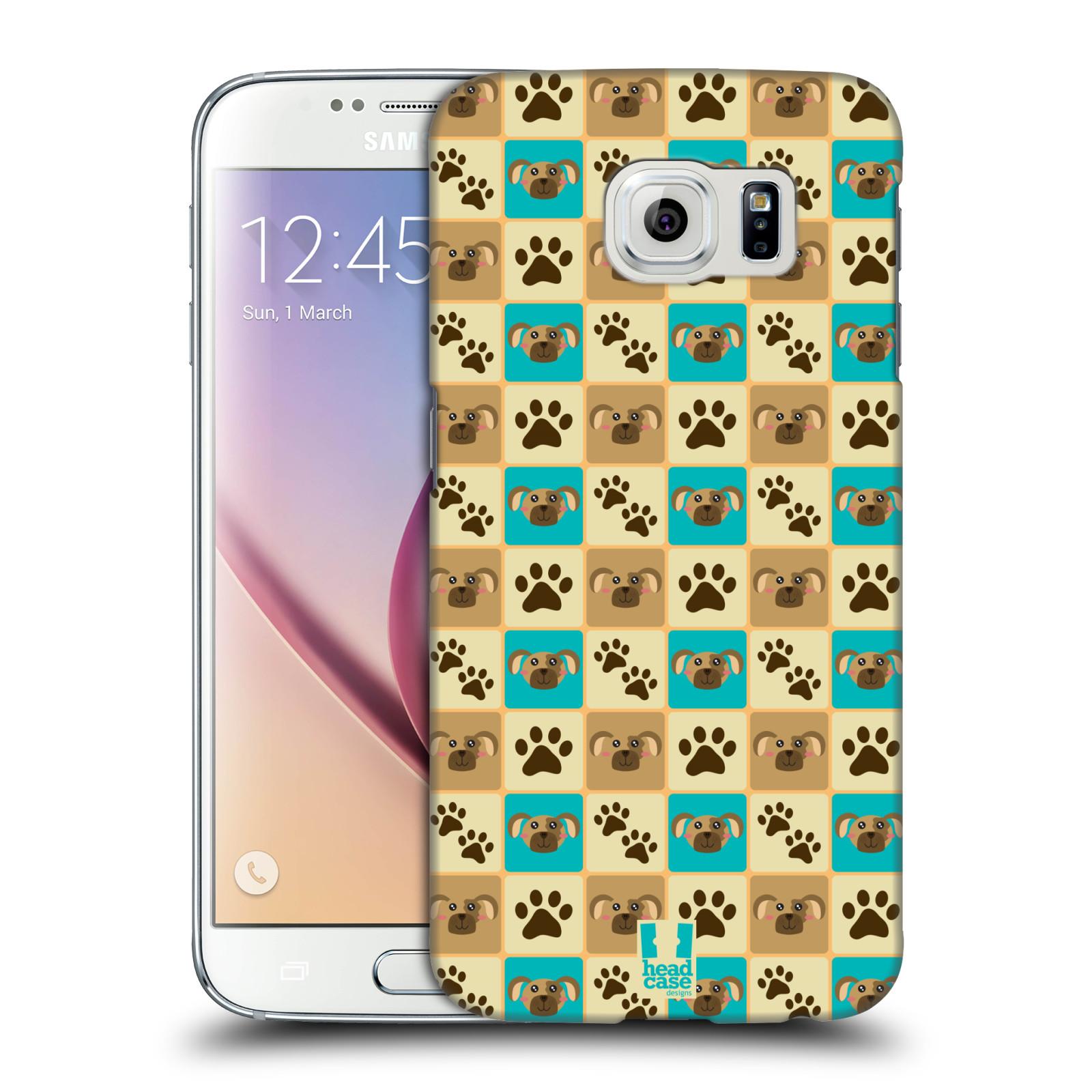 HEAD CASE plastový obal na mobil SAMSUNG Galaxy S6 (G9200, G920F) vzor Zvířecí razítka PSÍ TLAPKA
