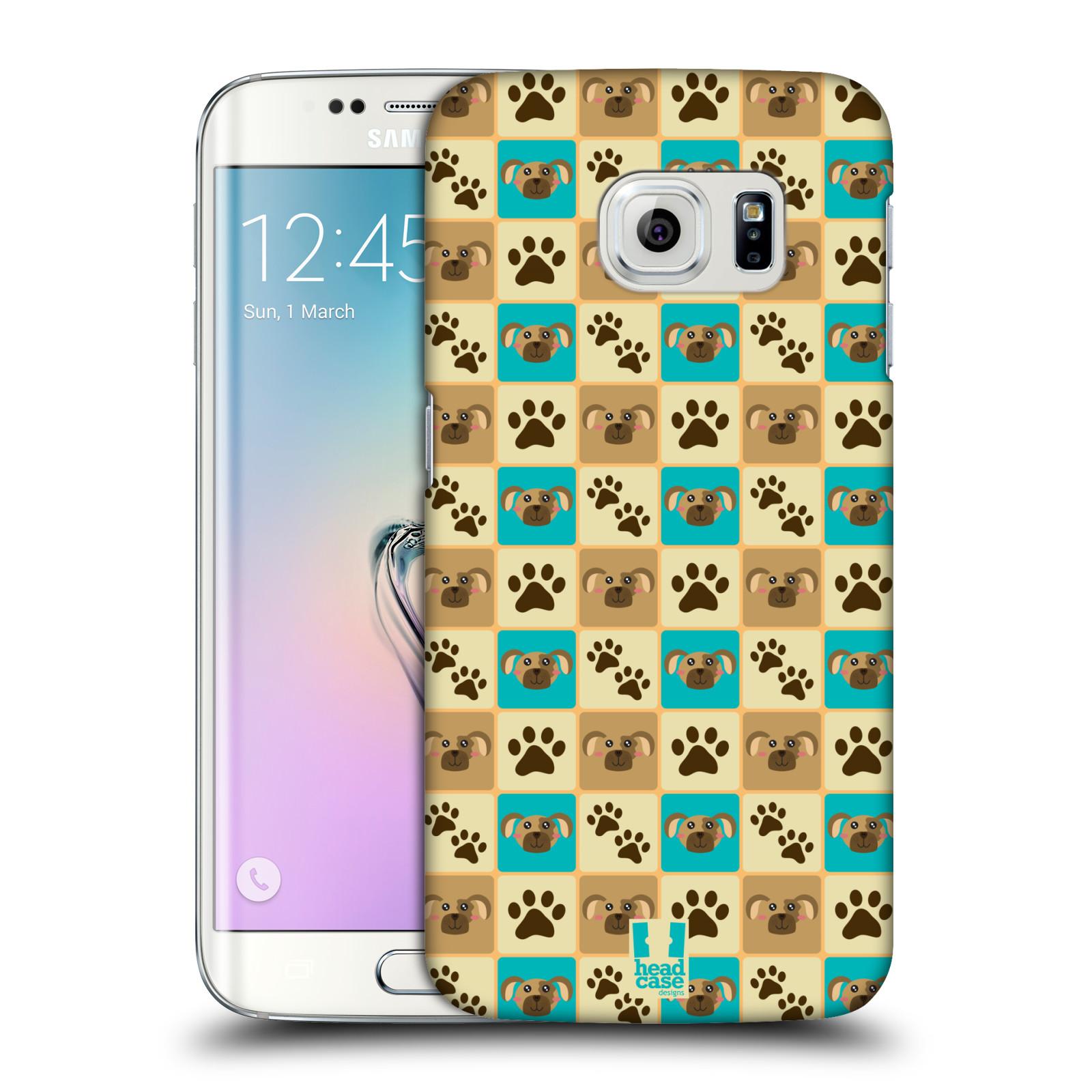 HEAD CASE plastový obal na mobil SAMSUNG Galaxy S6 EDGE (G9250, G925, G925F) vzor Zvířecí razítka PSÍ TLAPKA